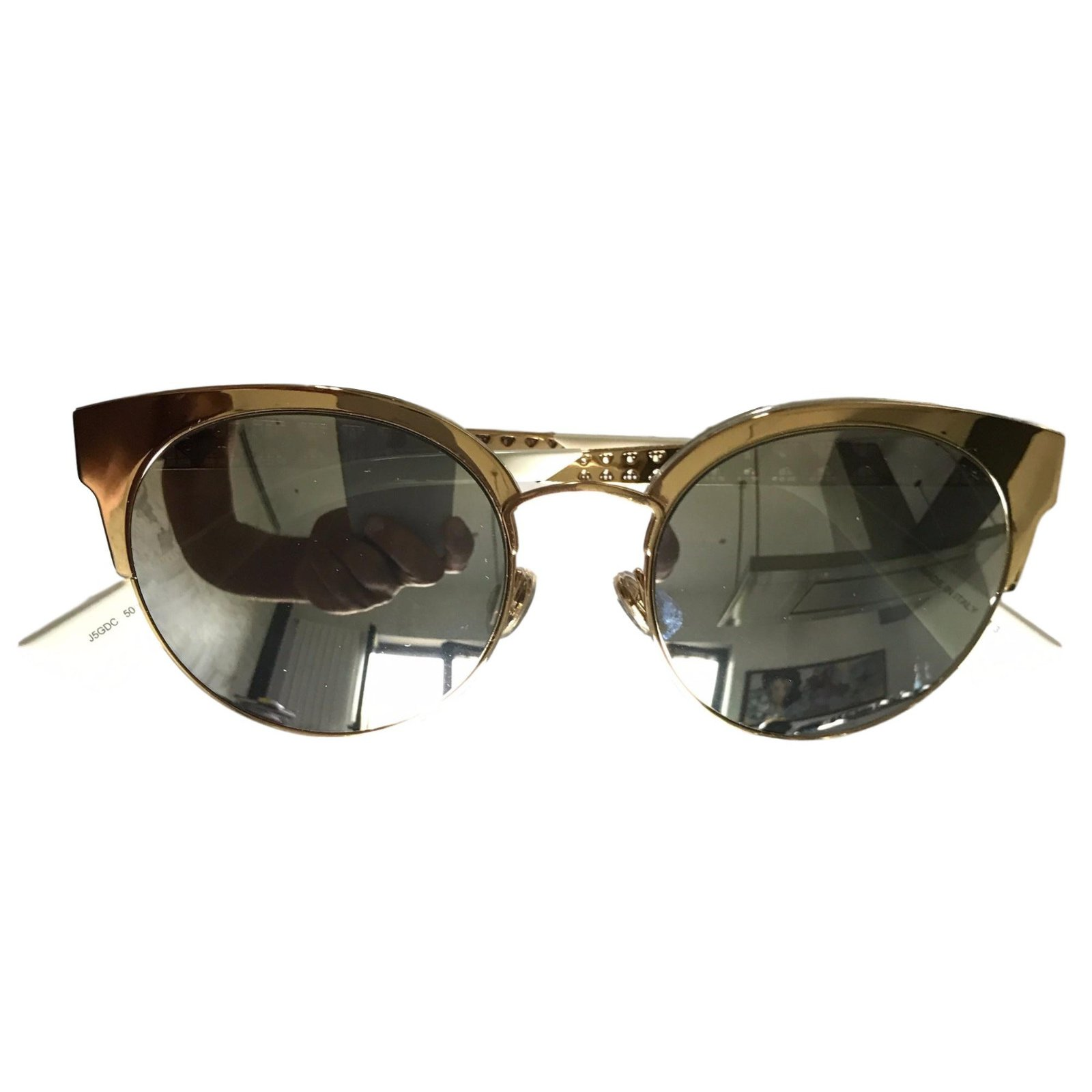 9c6dfd9b32 Christian Dior Dior diorama mini Sunglasses Metal Golden ref.45520 ...