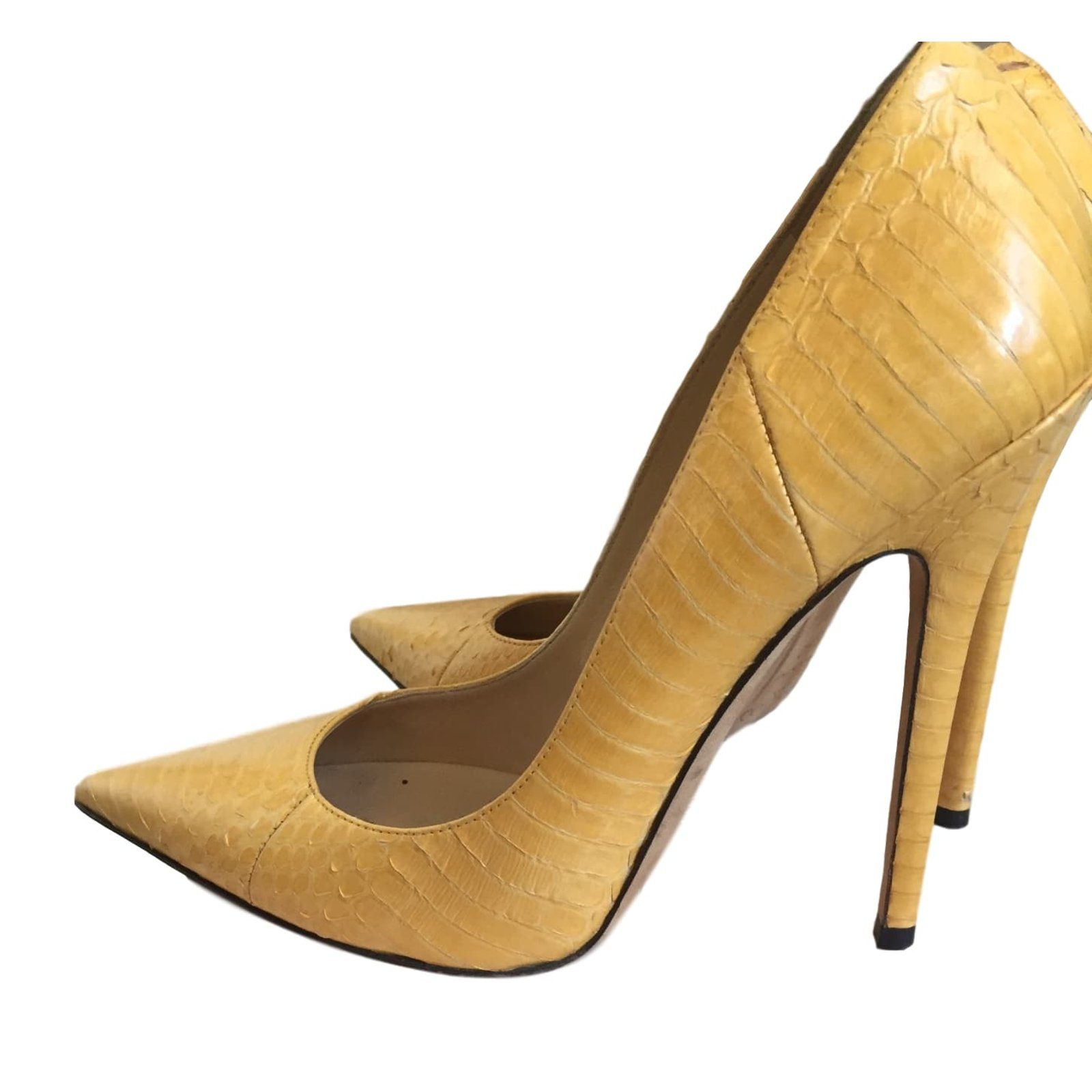 Jimmy Choo Pumps Heels Python Yellow
