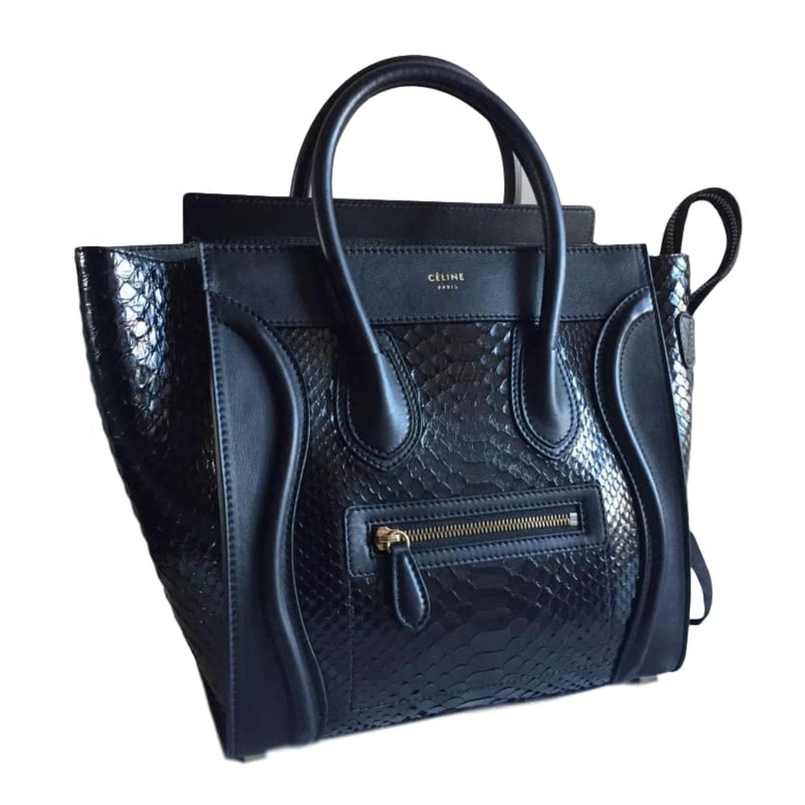 sacs main c line sacs main python noir. Black Bedroom Furniture Sets. Home Design Ideas