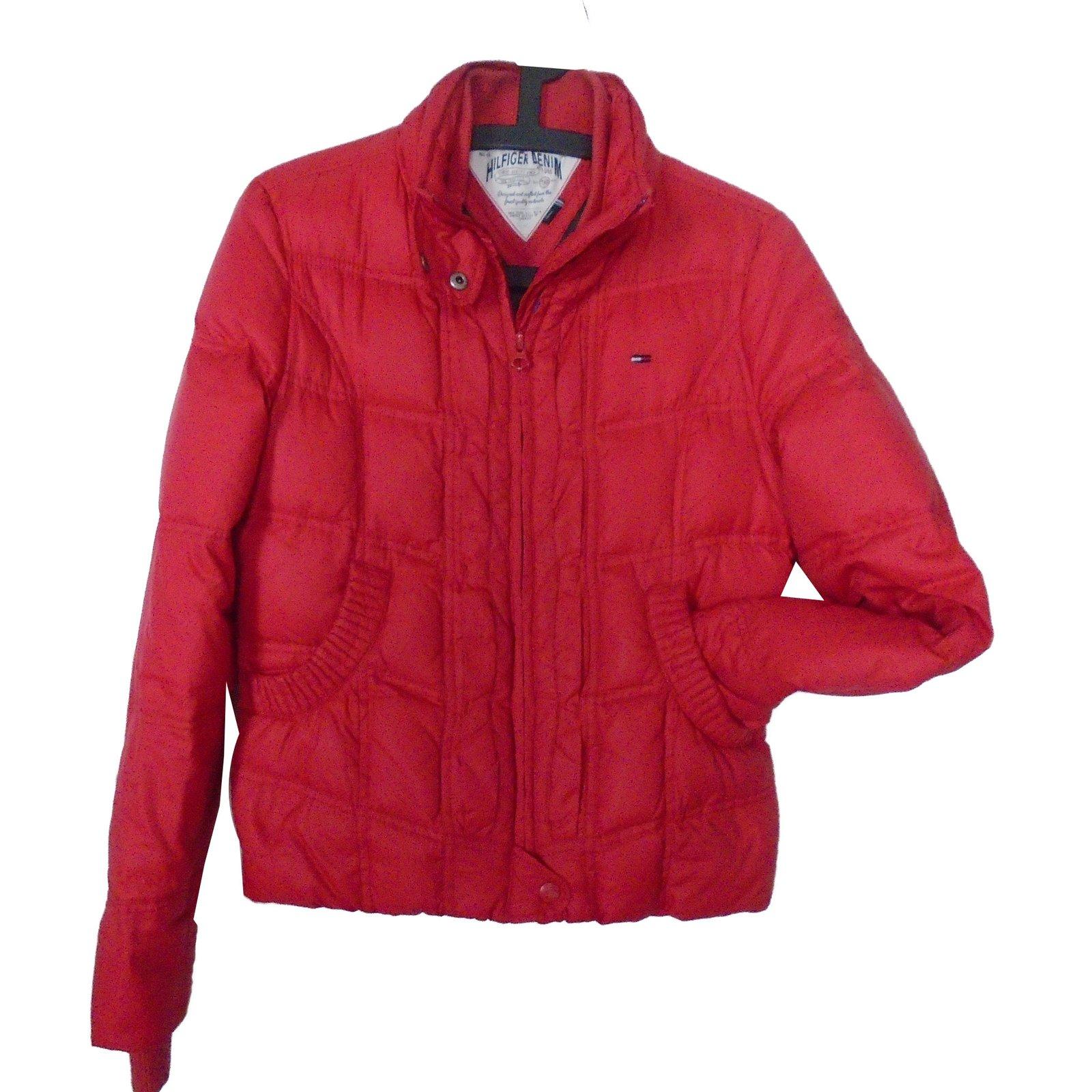 manteaux tommy hilfiger manteaux polyester rouge. Black Bedroom Furniture Sets. Home Design Ideas