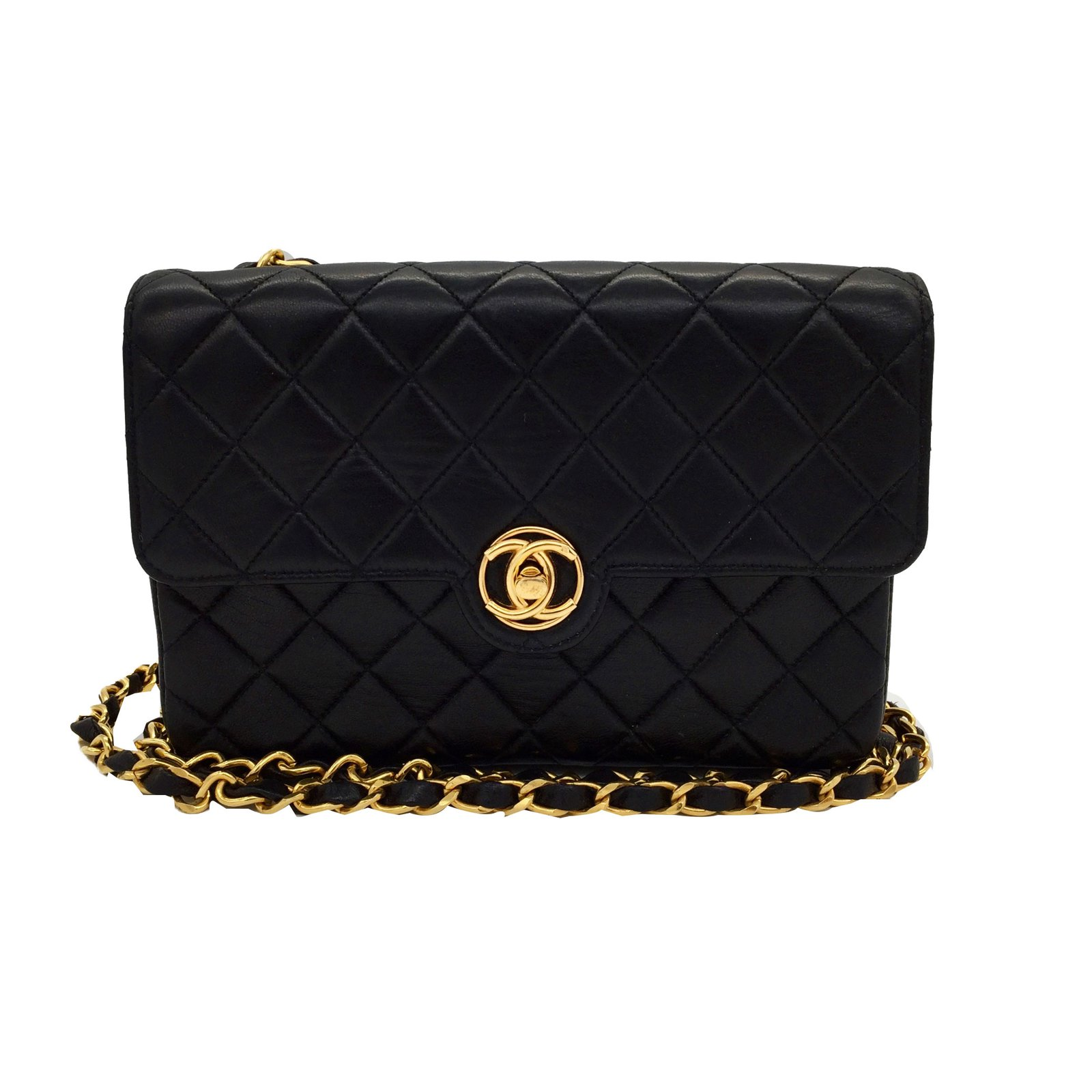 Sacs main chanel sac main cuir noir joli for Sac chanel interieur