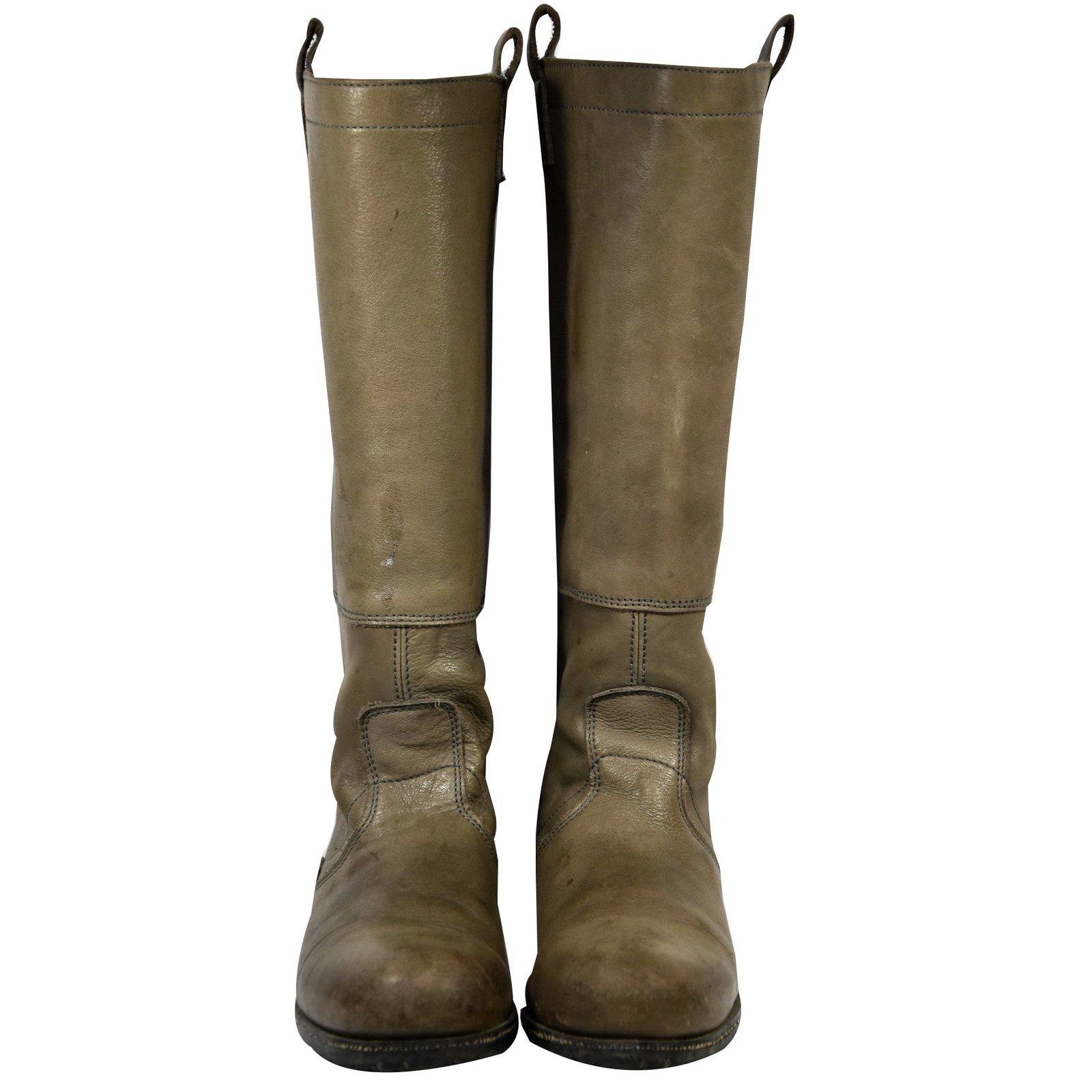Joli Boots Boots Palladium Leather Brown Closet ref 46452 Yf76vbgy