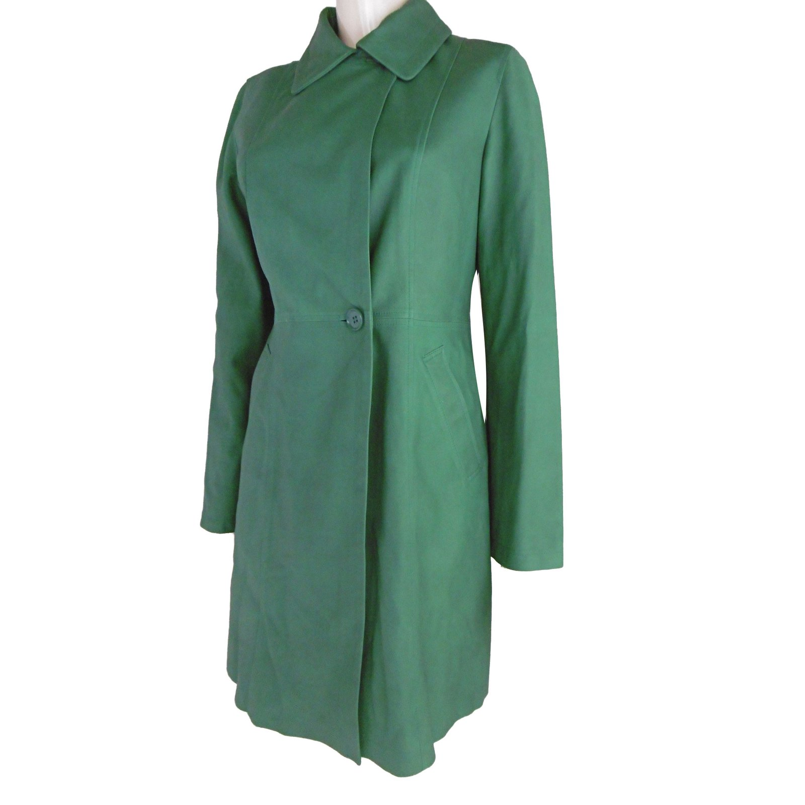manteaux balmain manteau en cuir cuir d 39 agneau vert joli closet. Black Bedroom Furniture Sets. Home Design Ideas