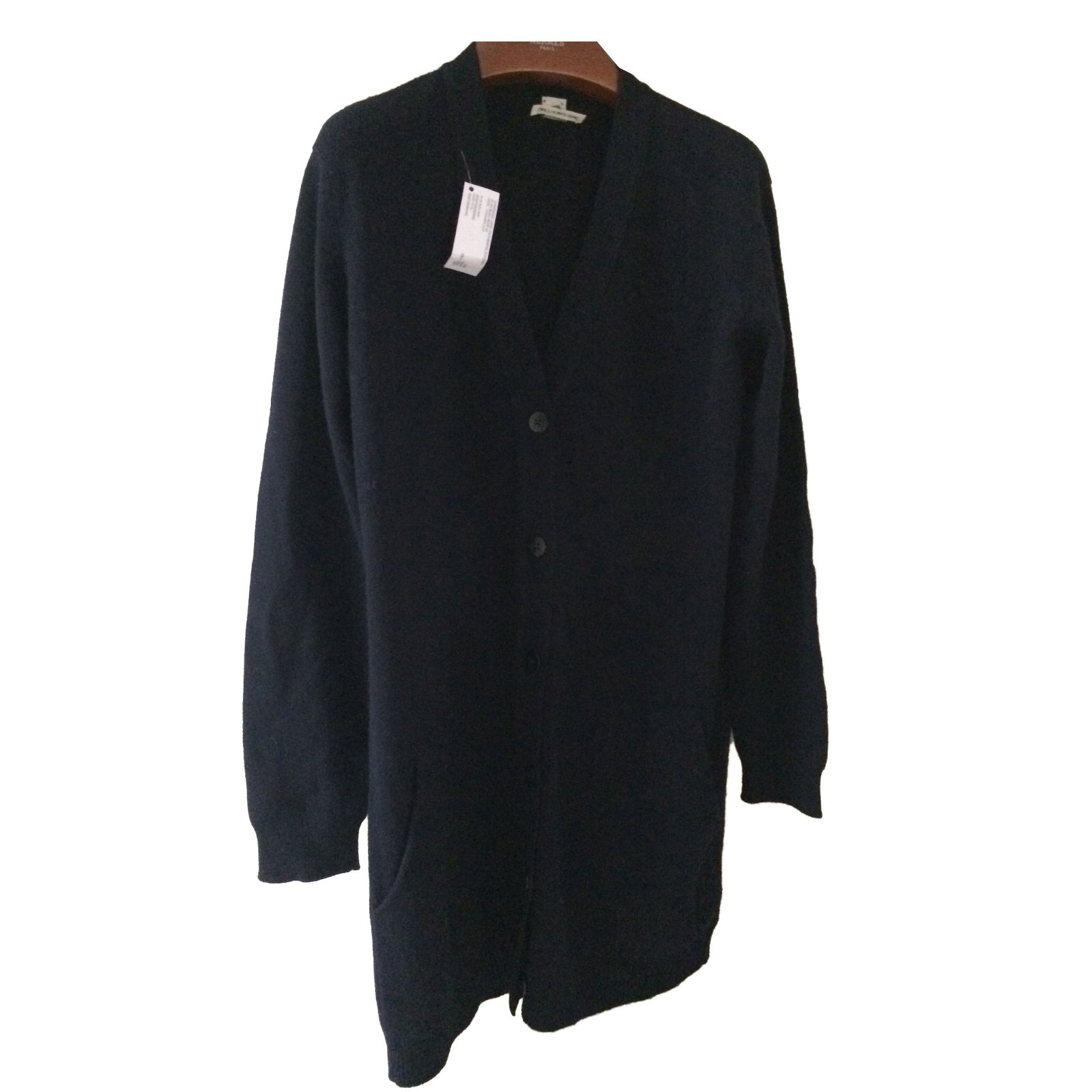 Hermès Long cardigan sweater in cashmere Knitwear Cashmere Navy ...
