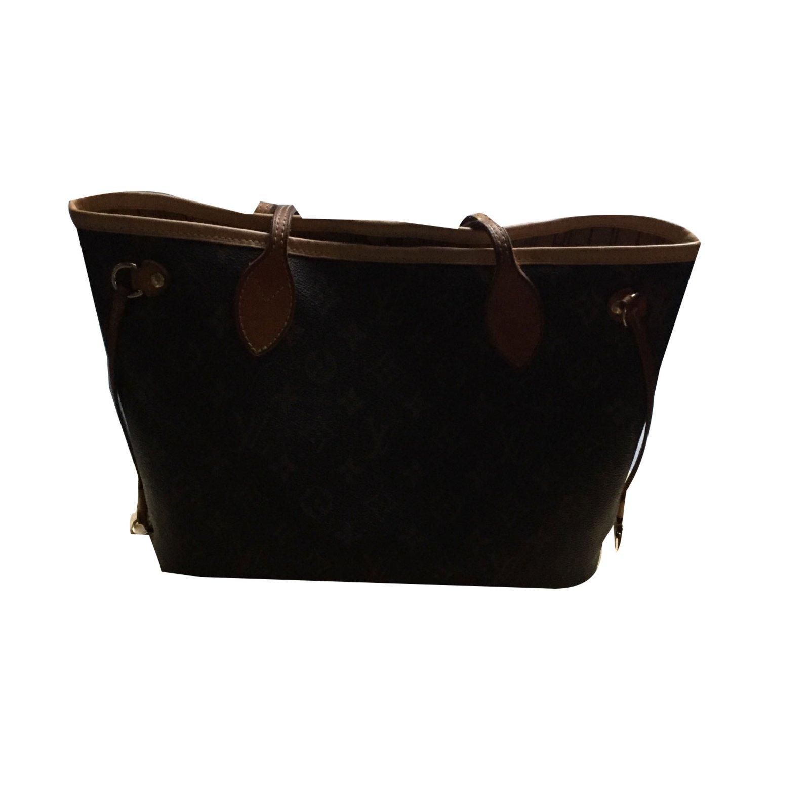 93ff767778c6 Louis Vuitton Neverfull pm Handbags Cloth Dark brown ref.46848 ...