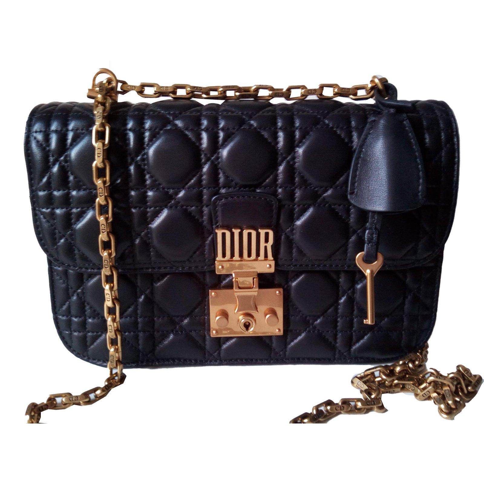 7fd198b5ca8 Dior Dioraddict cannage lambskin black Handbags Lambskin Black ref.47009