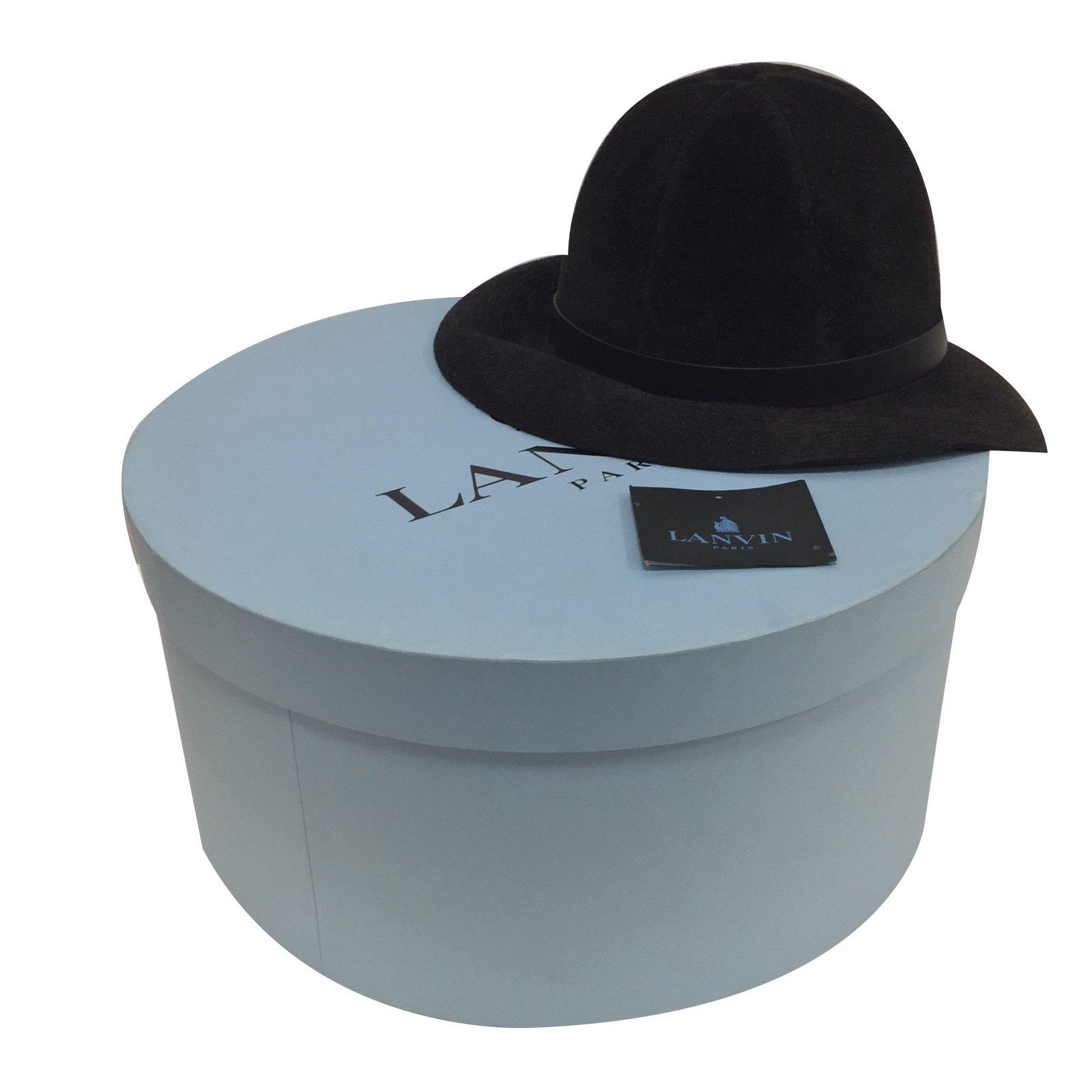 Lanvin Hat Hats Fur Black ref.47055