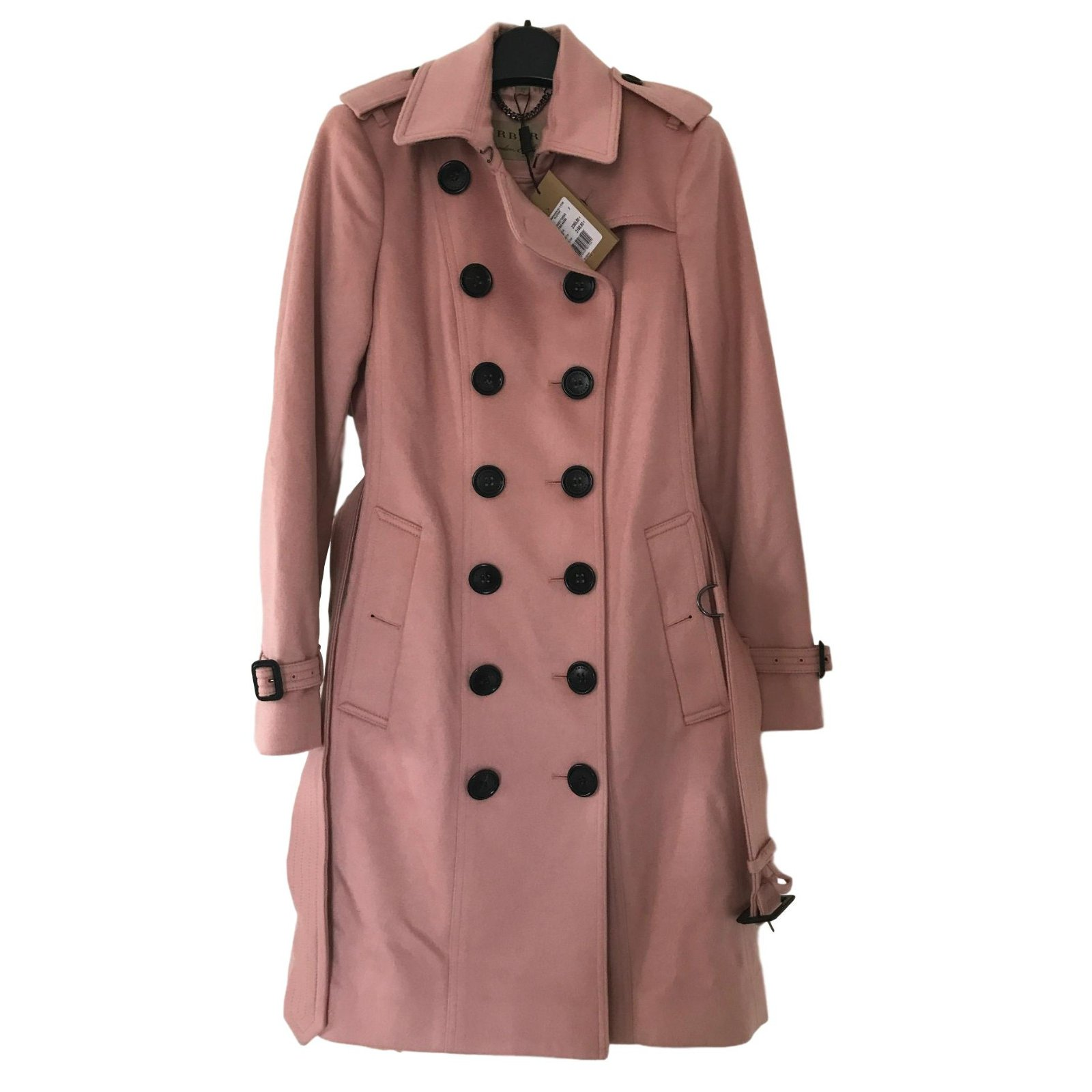 055ea728f6db Burberry Sandringham Trench coat Trench coats Cashmere Pink ref.47143