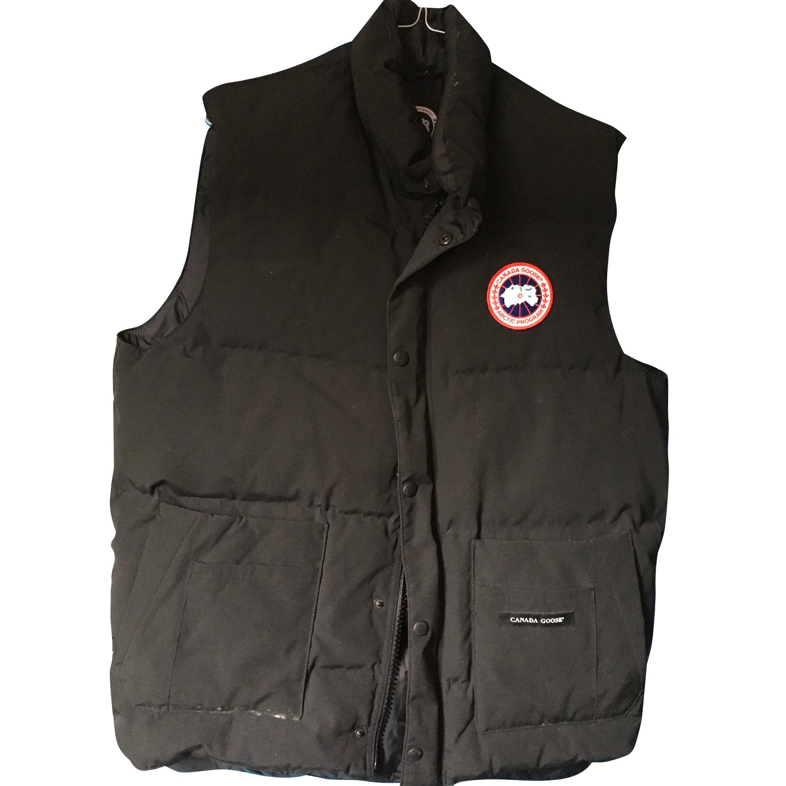 Blazers Canada: Canada Goose Sleeveless Vest Blazers Jackets Cotton Black