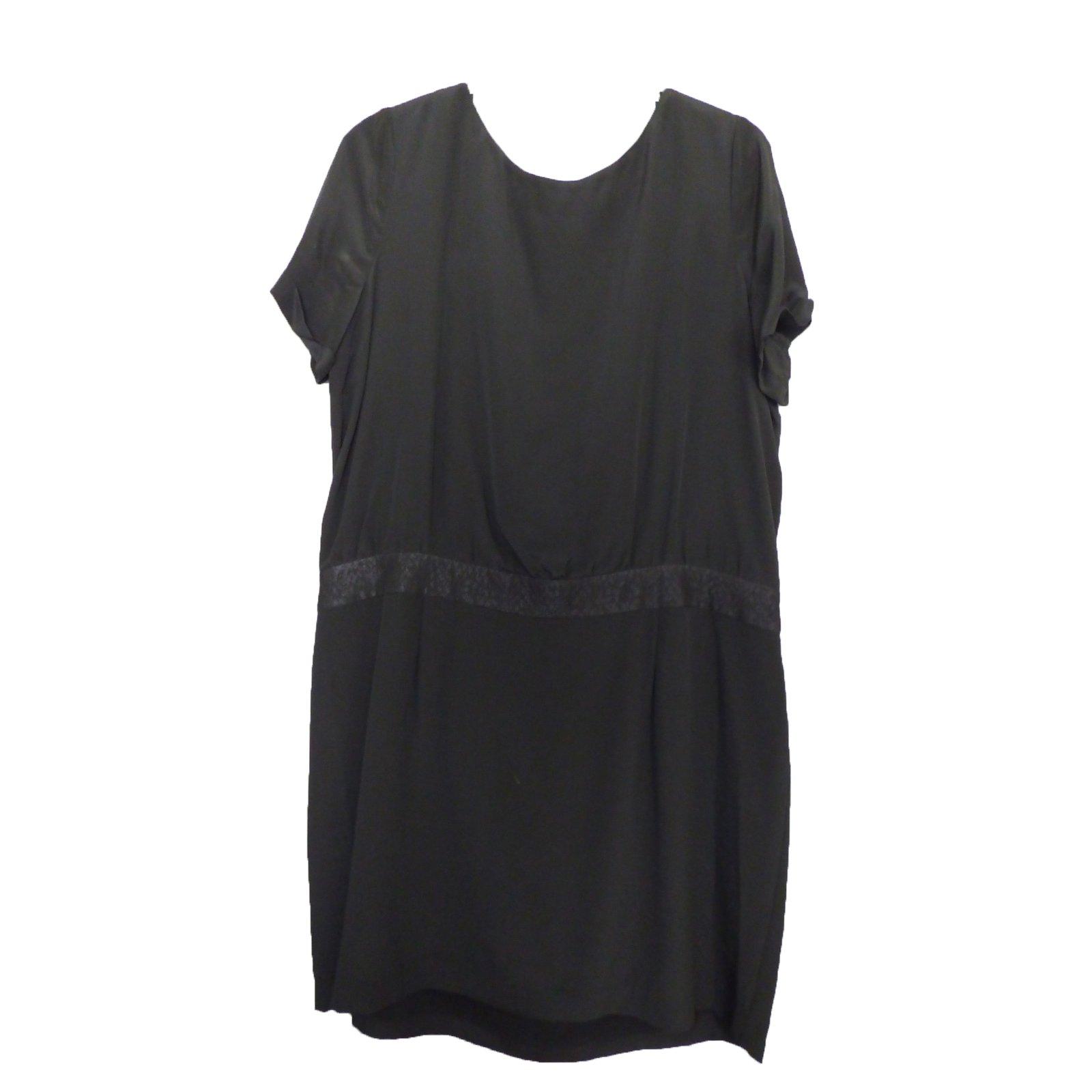 Robes Comptoir Des Cotonniers Robe Soieviscose Noir Ref47204