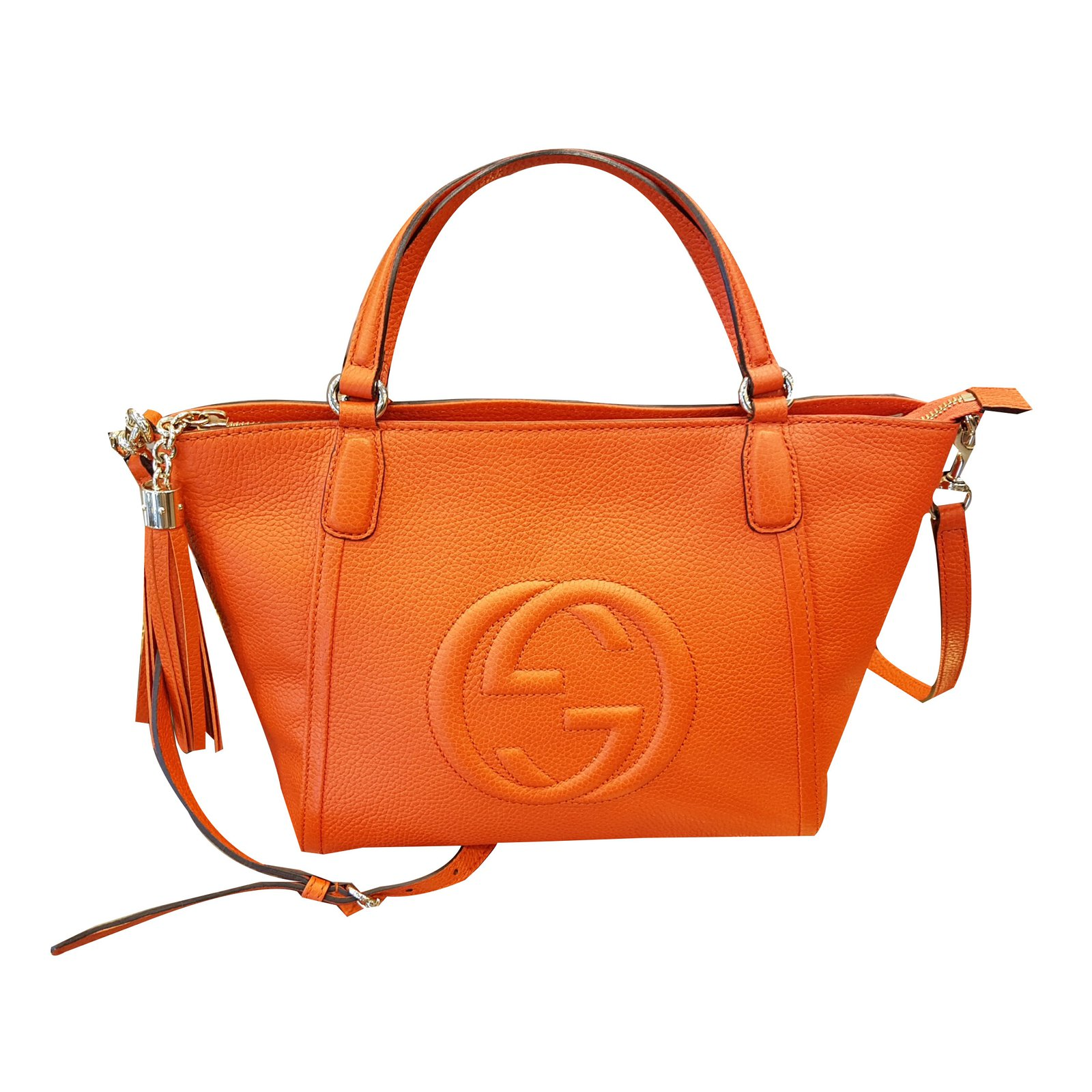 Gucci Borsa Soho Handbags Leather Orange Ref 47313