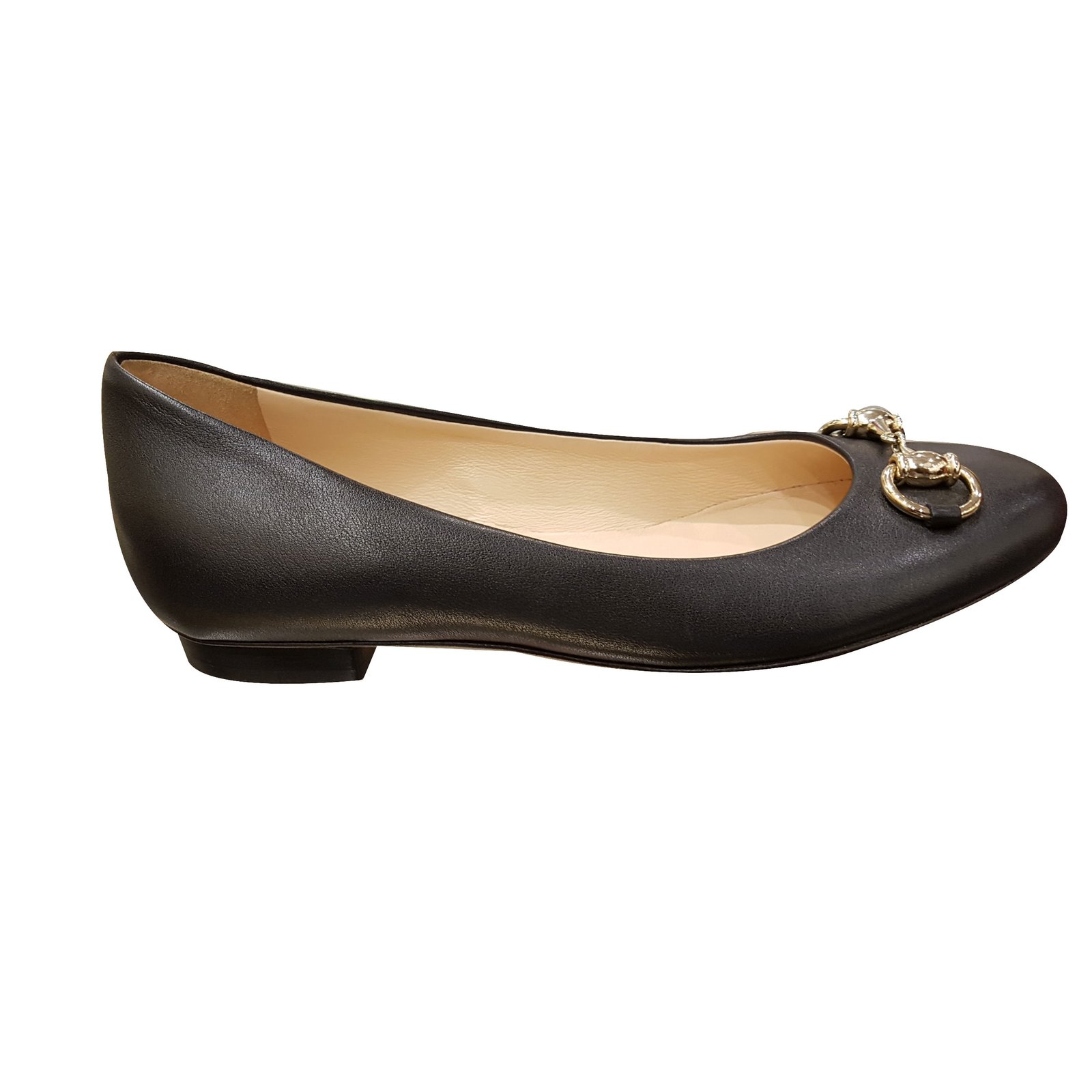 9ea79462aca4 Gucci BALLERINA Ballet flats Leather Black ref.47316 - Joli Closet