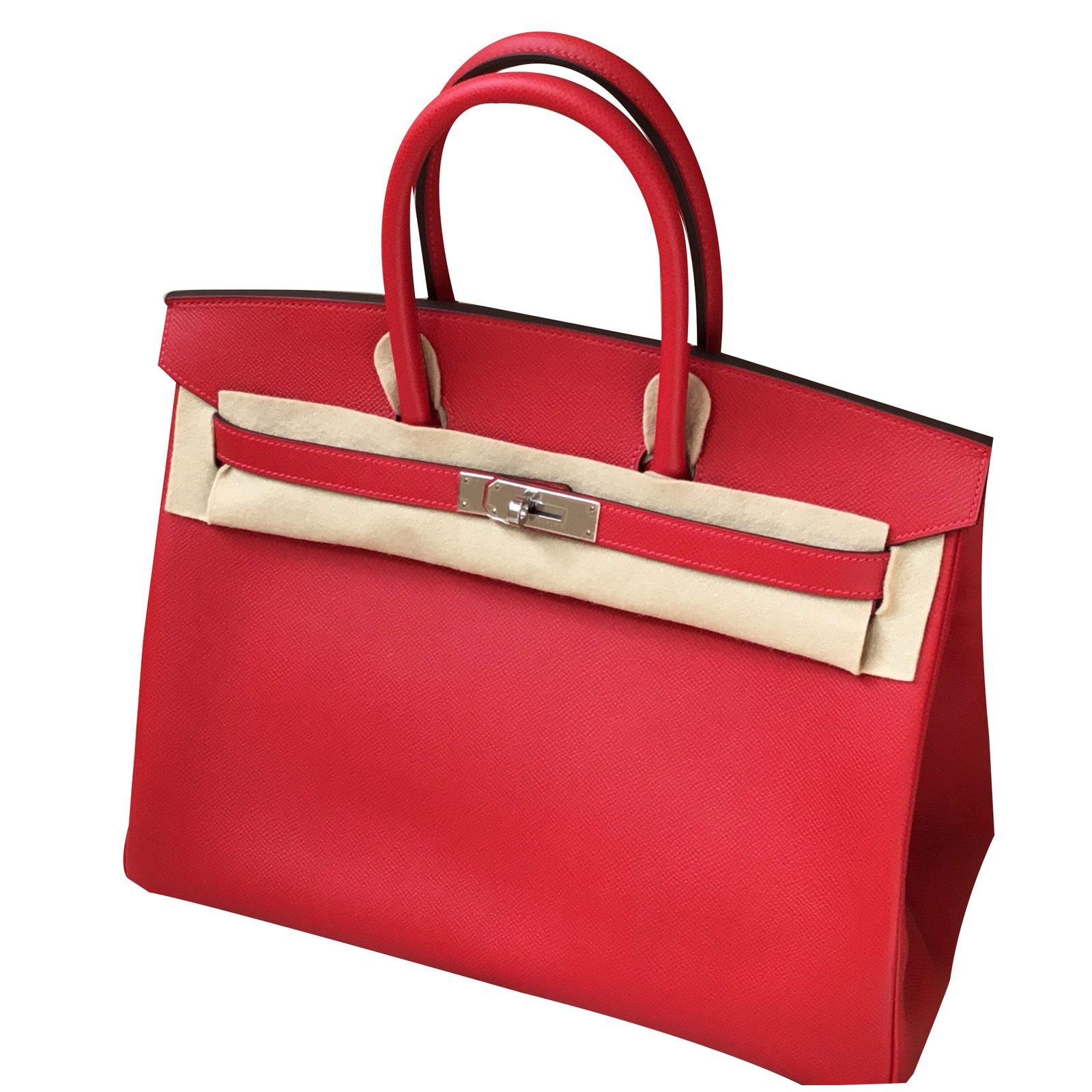 61951e9b75 ... ireland hermès hermes birkin 35 handbags leather red ref.47355 2a885  4bfe6