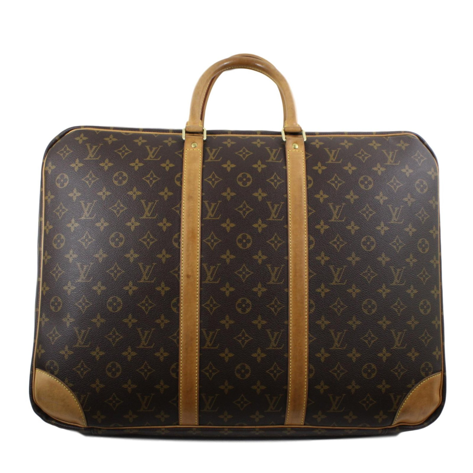 Louis Vuitton Travel Bag Leather Brown Ref 47395