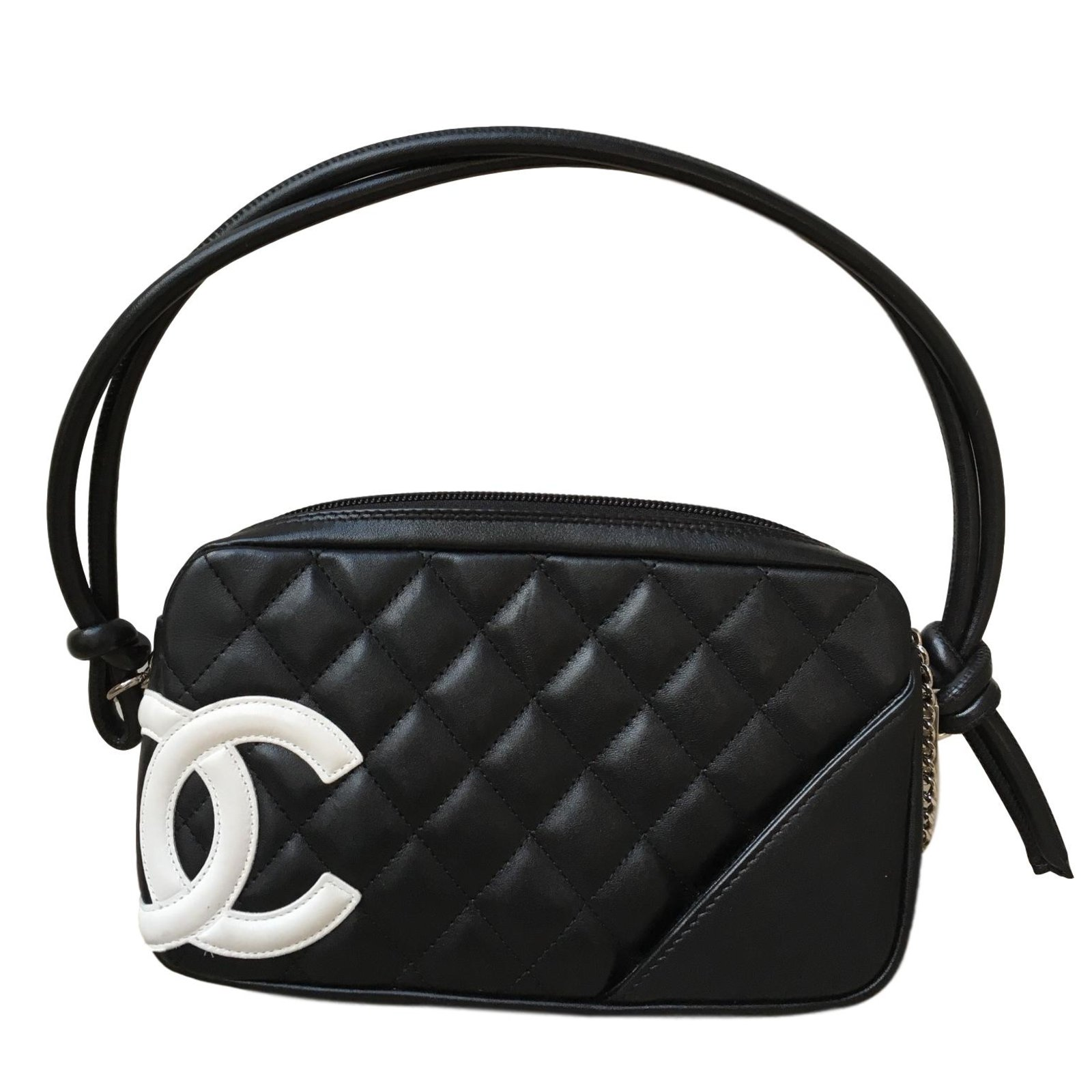 60c8fbfcb65a23 Chanel Cambon Handbags Leather Black ref.47475 - Joli Closet