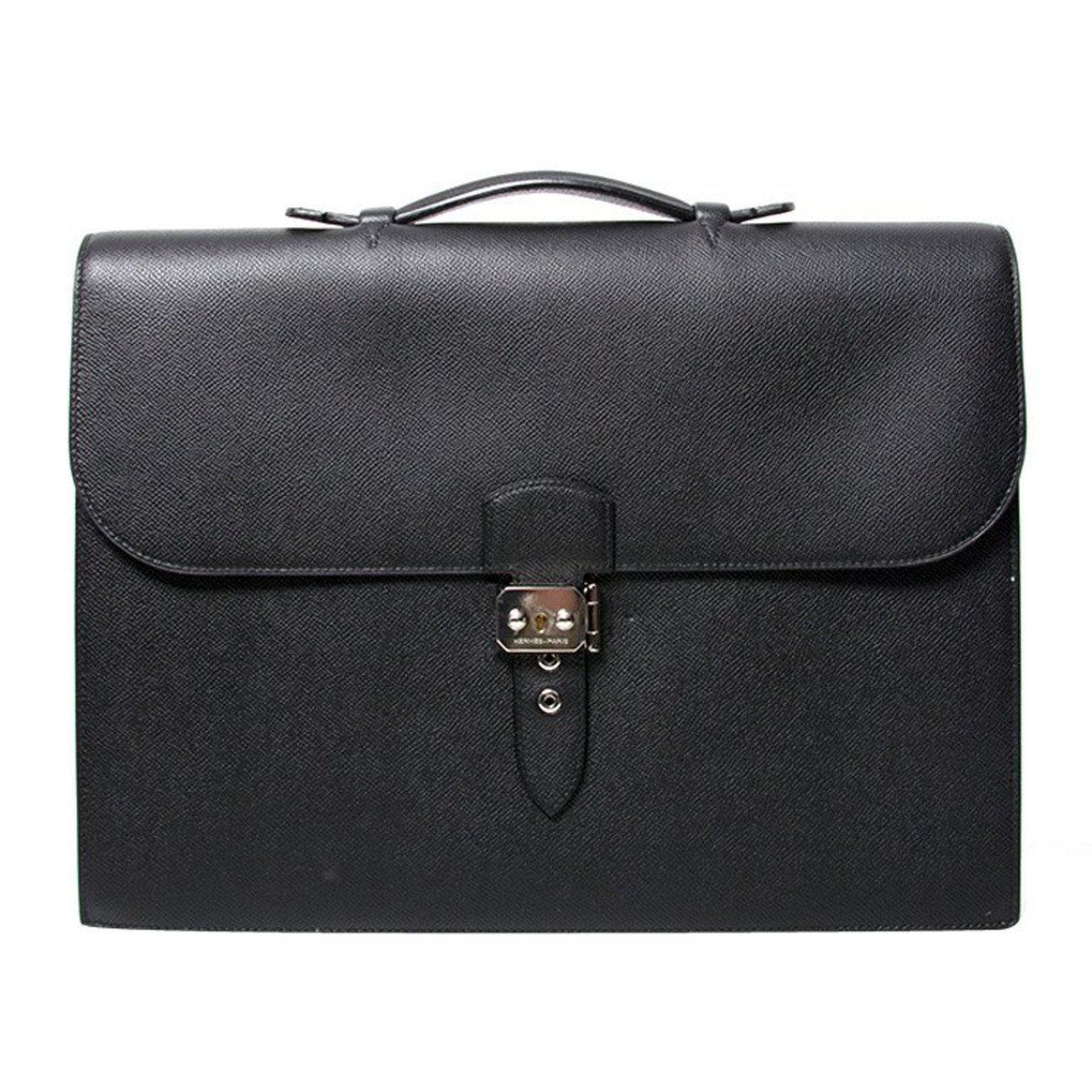 8c0abd6403ac Hermès Briefcase black leather Bags Briefcases Leather Black ref.47794