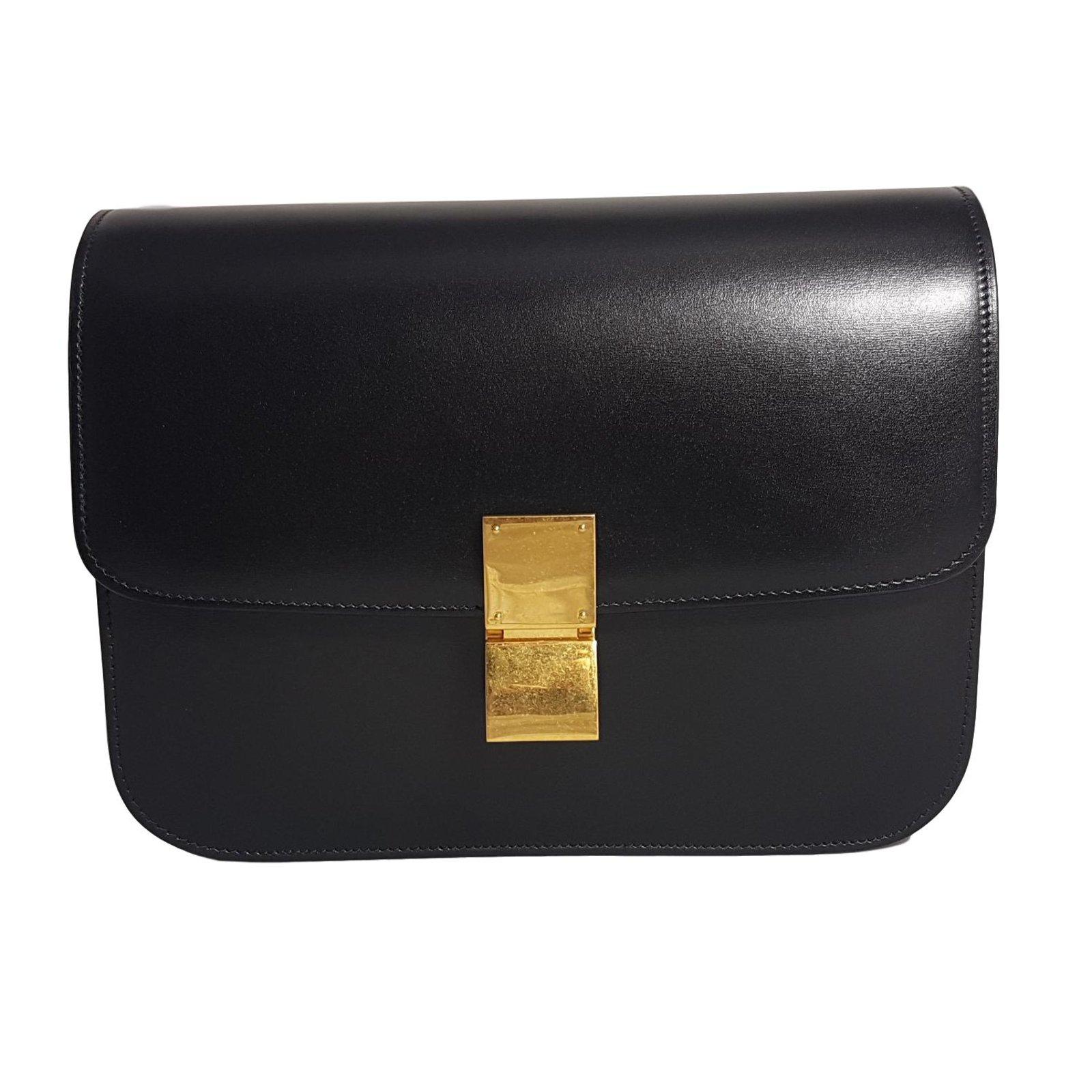 48d354647e7ff8 Céline Céline Classic Box Black Handbags Leather Black ref.47993 ...