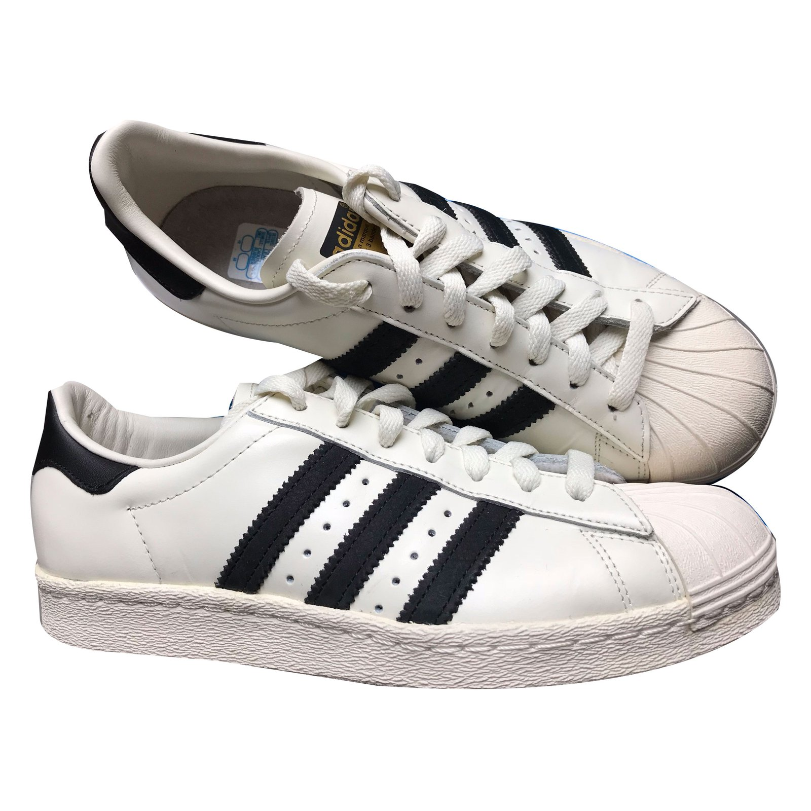 c3df53252df9 Adidas Superstar 80s DLX Sneakers Leather White ref.48099 - Joli Closet