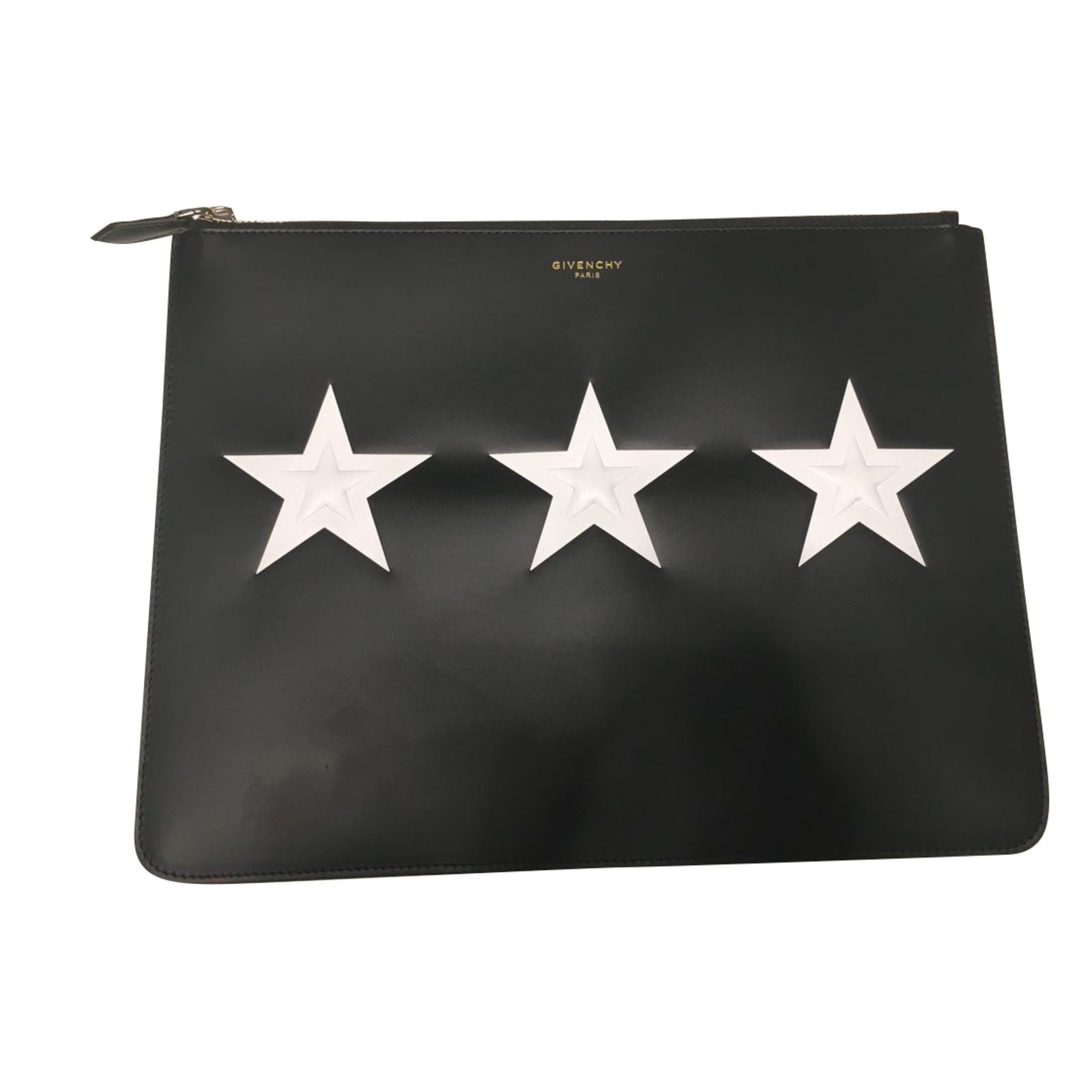 Givenchy Givenchy Clutch Pouch Bag Clutch bags Leather Black ref.48744 668235d5c5689