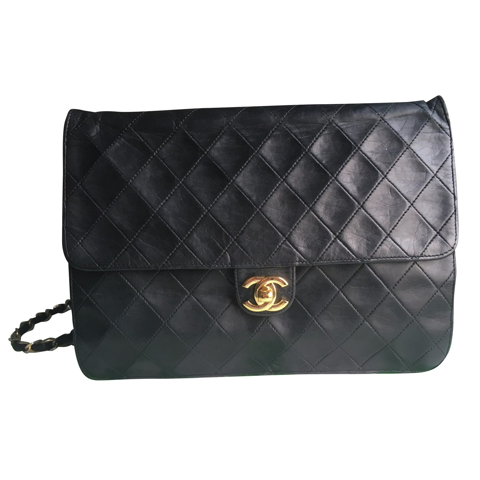 8dc39c58a00 Chanel Vintage Timeless Handbags Leather Black ref.48788 - Joli Closet