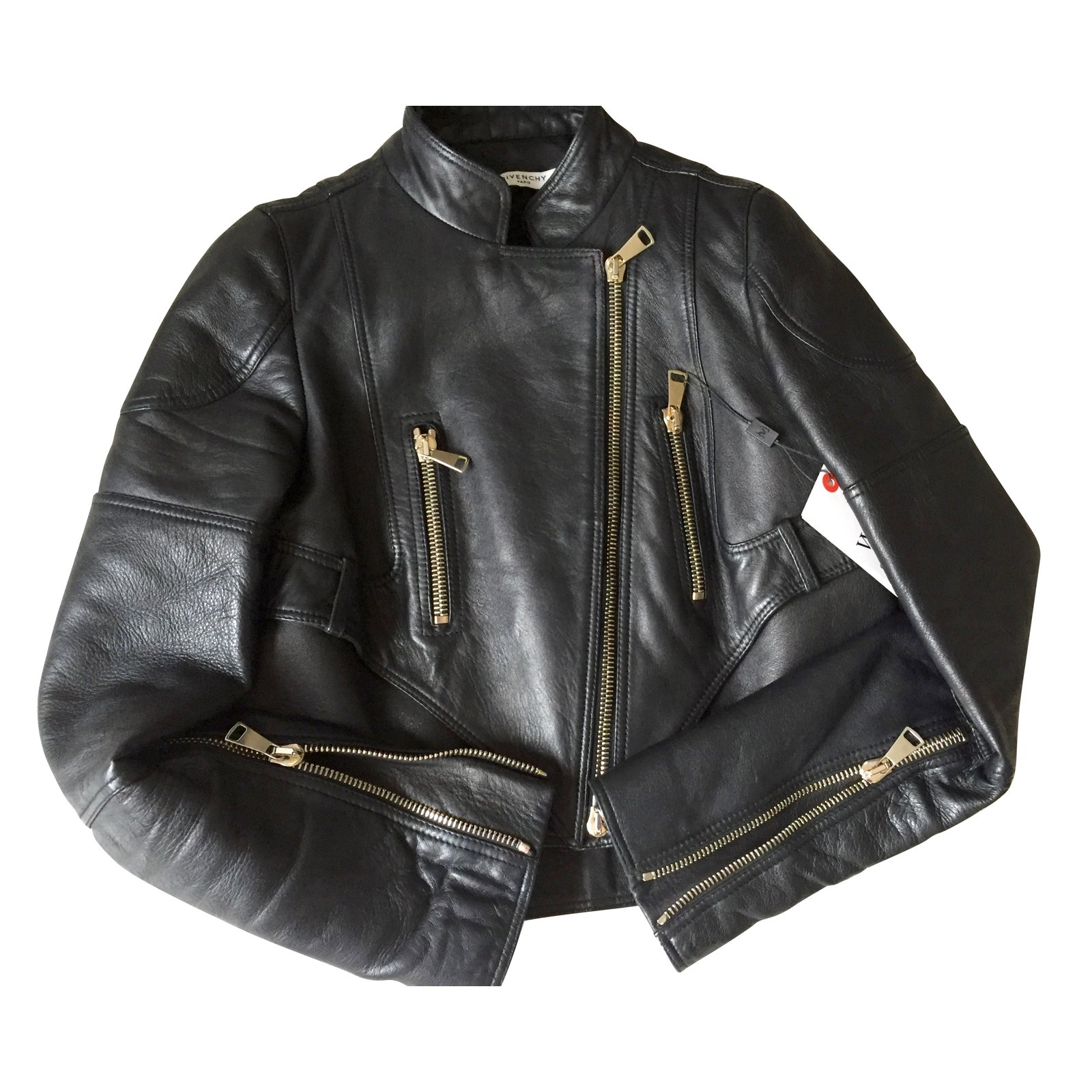 2ac0a9f186424 Givenchy Jacket Jackets Leather Black ref.48898 - Joli Closet