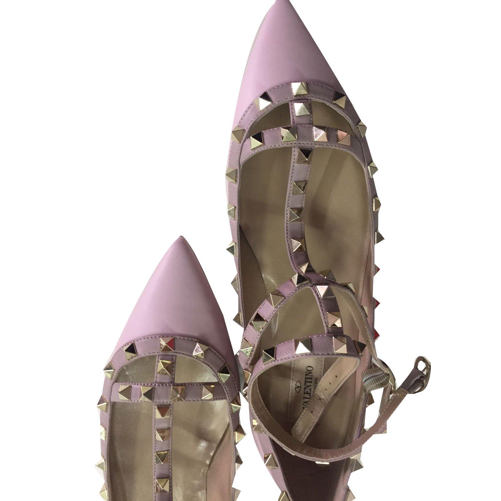 25c4048a51 Valentino Garavani Rockstud Ballet flats Ballet flats Leather Pink ref.49254