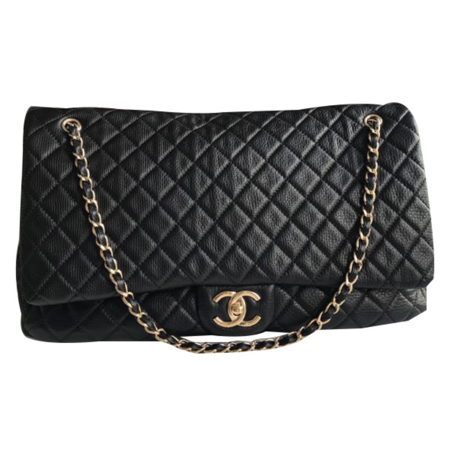 Chanel Timeless L Travel Bag Leather Black Ref 49262