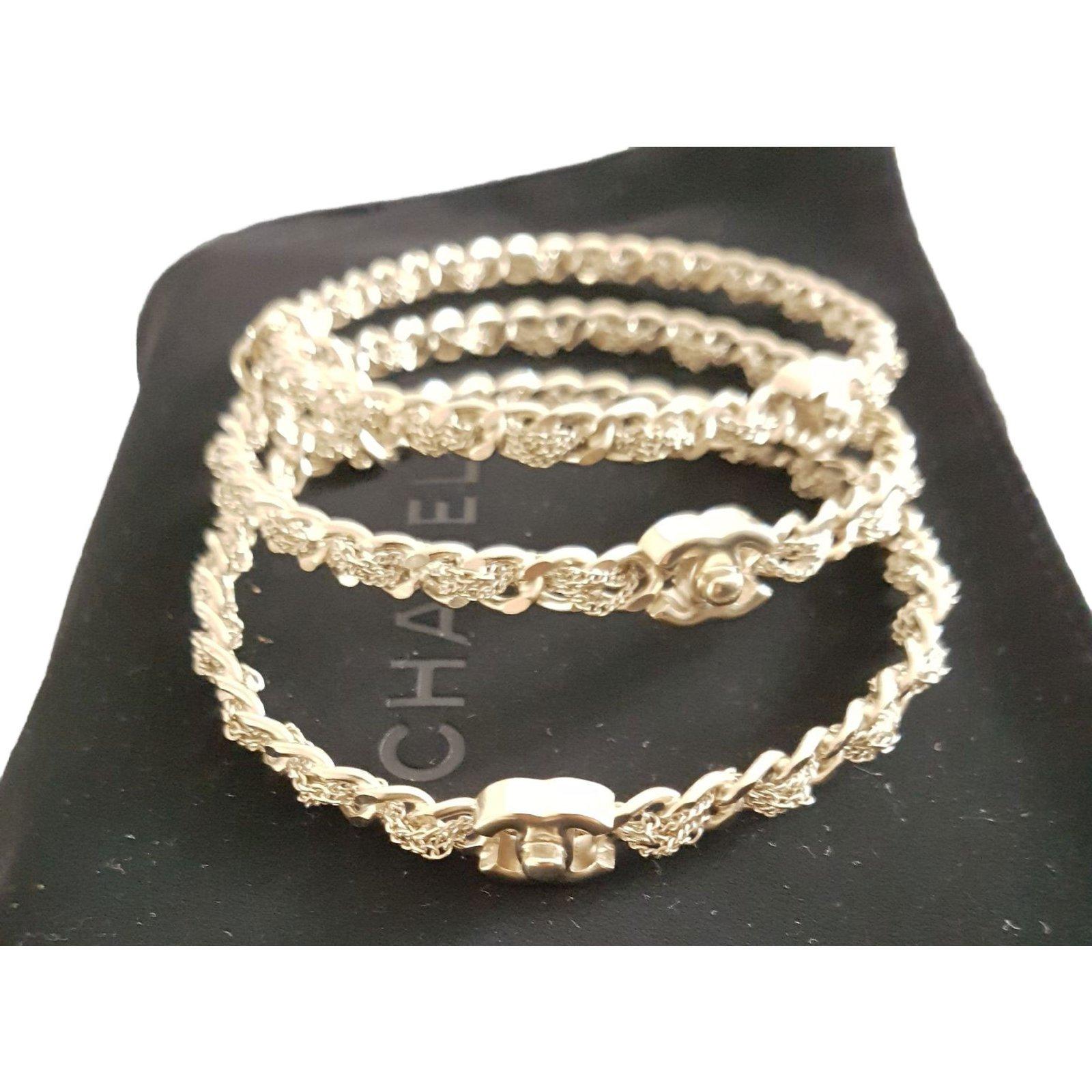 chanel bracelets bracelets metal golden ref 49406 joli