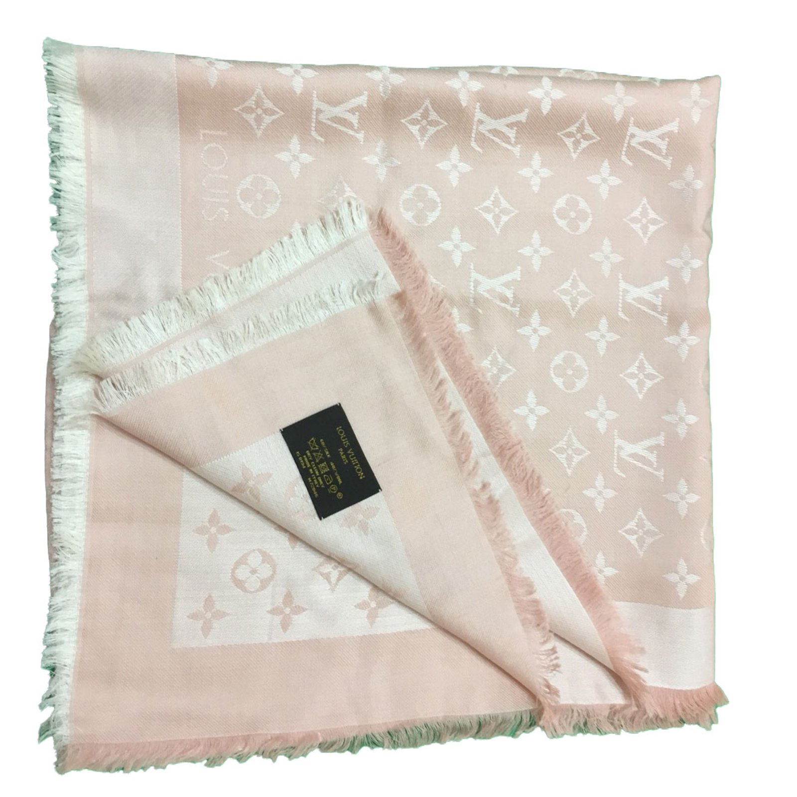 baa695dec1e86 Louis Vuitton Stola louis vuitton rosa Scarves Wool Pink ref.49431 ...