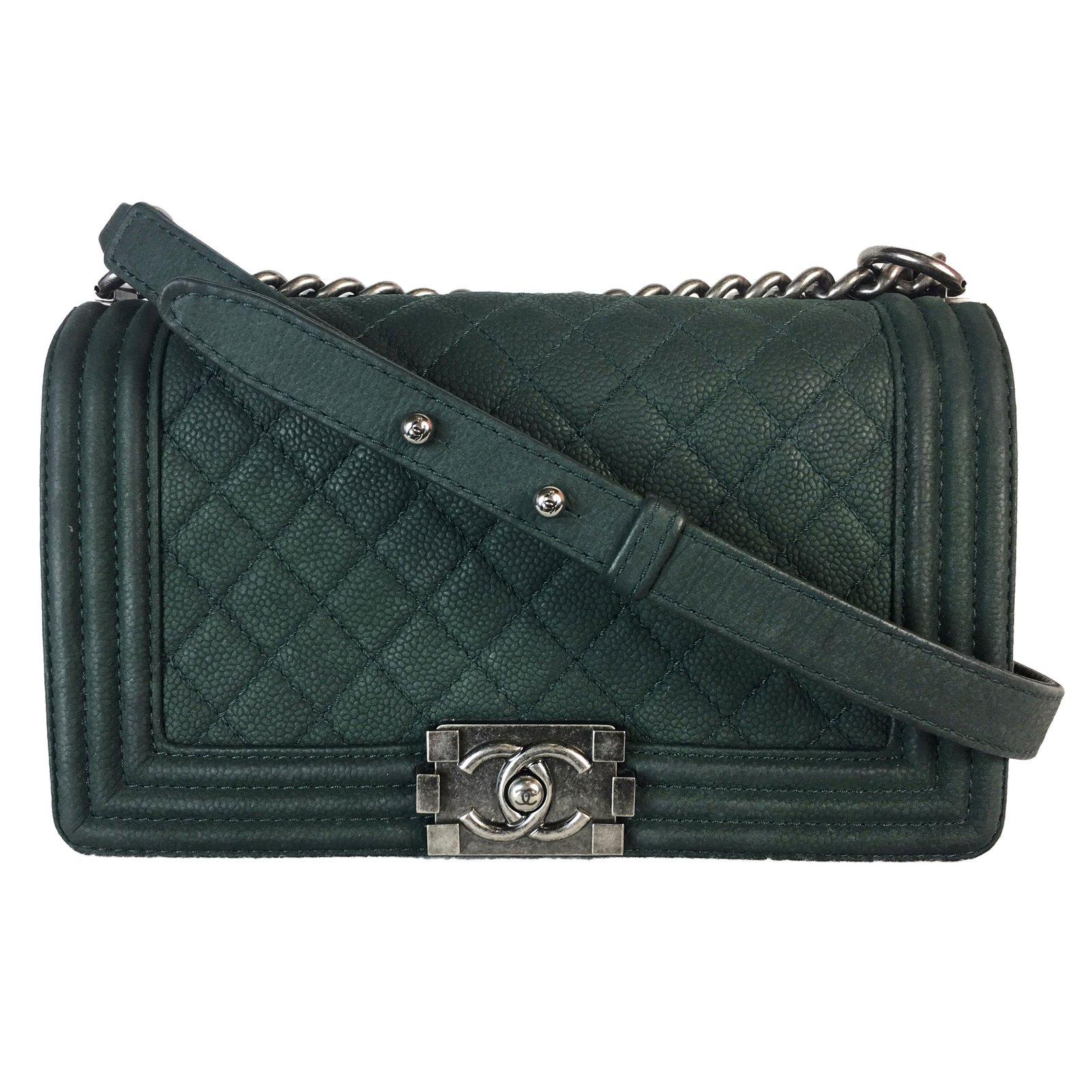 fa921cbe5d9b Sacs à main Chanel Boy Medium Daim Vert ref.49449 - Joli Closet
