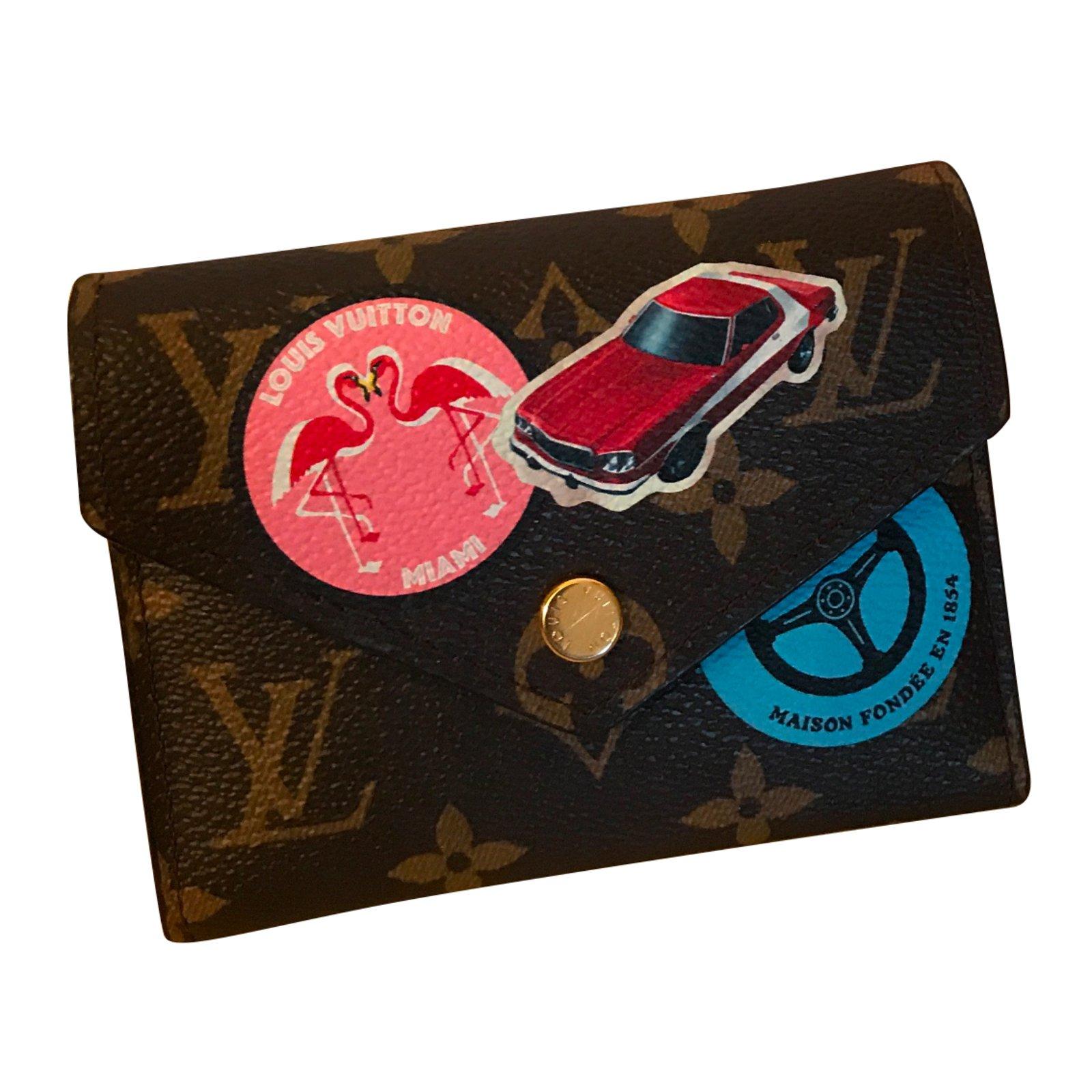 Louis Vuitton Louis Vuitton Victorine World Tour Collector Wallets Cloth Other Ref 49519 Joli Closet