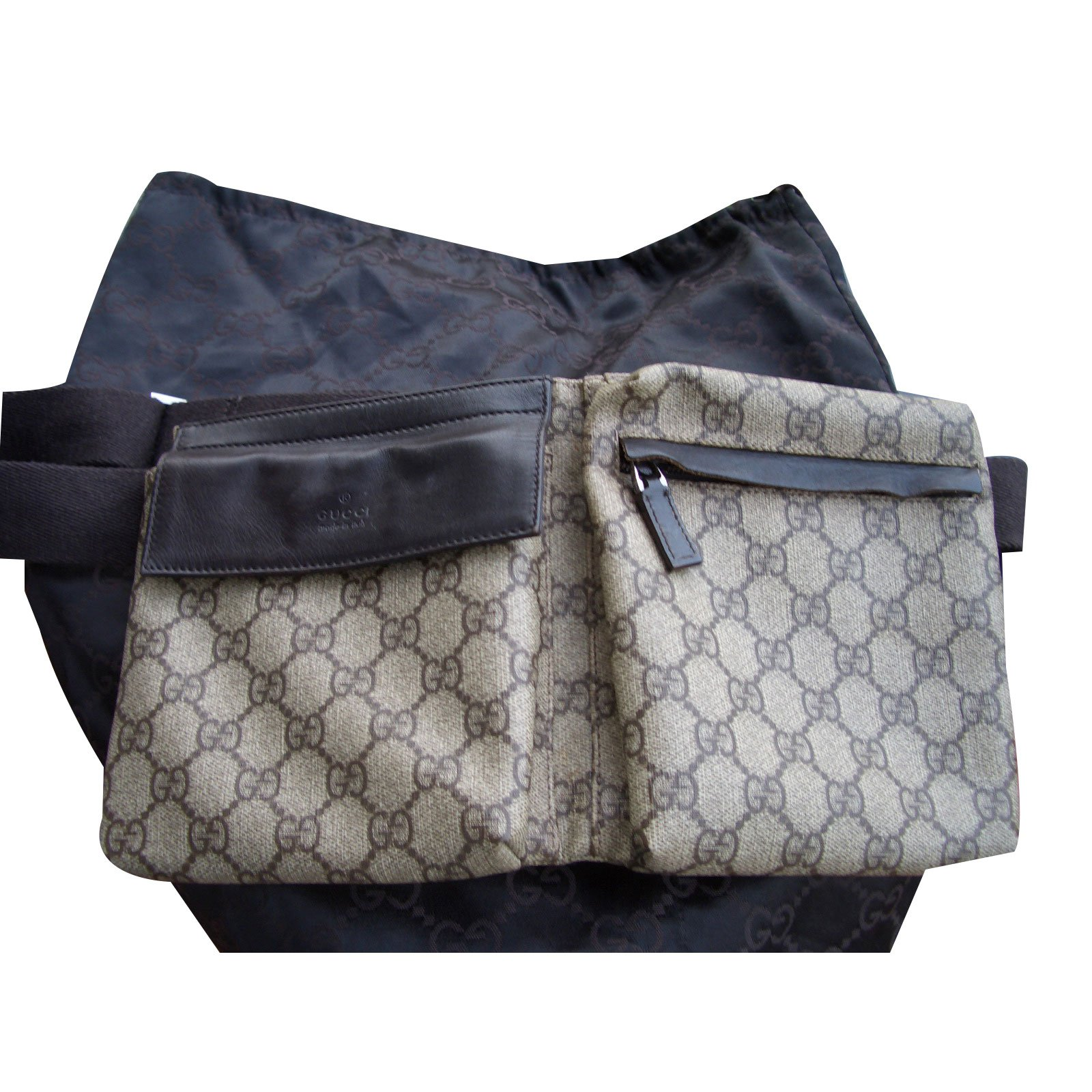 pochettes gucci ceinture sac cuir toile multicolore ref. Black Bedroom Furniture Sets. Home Design Ideas