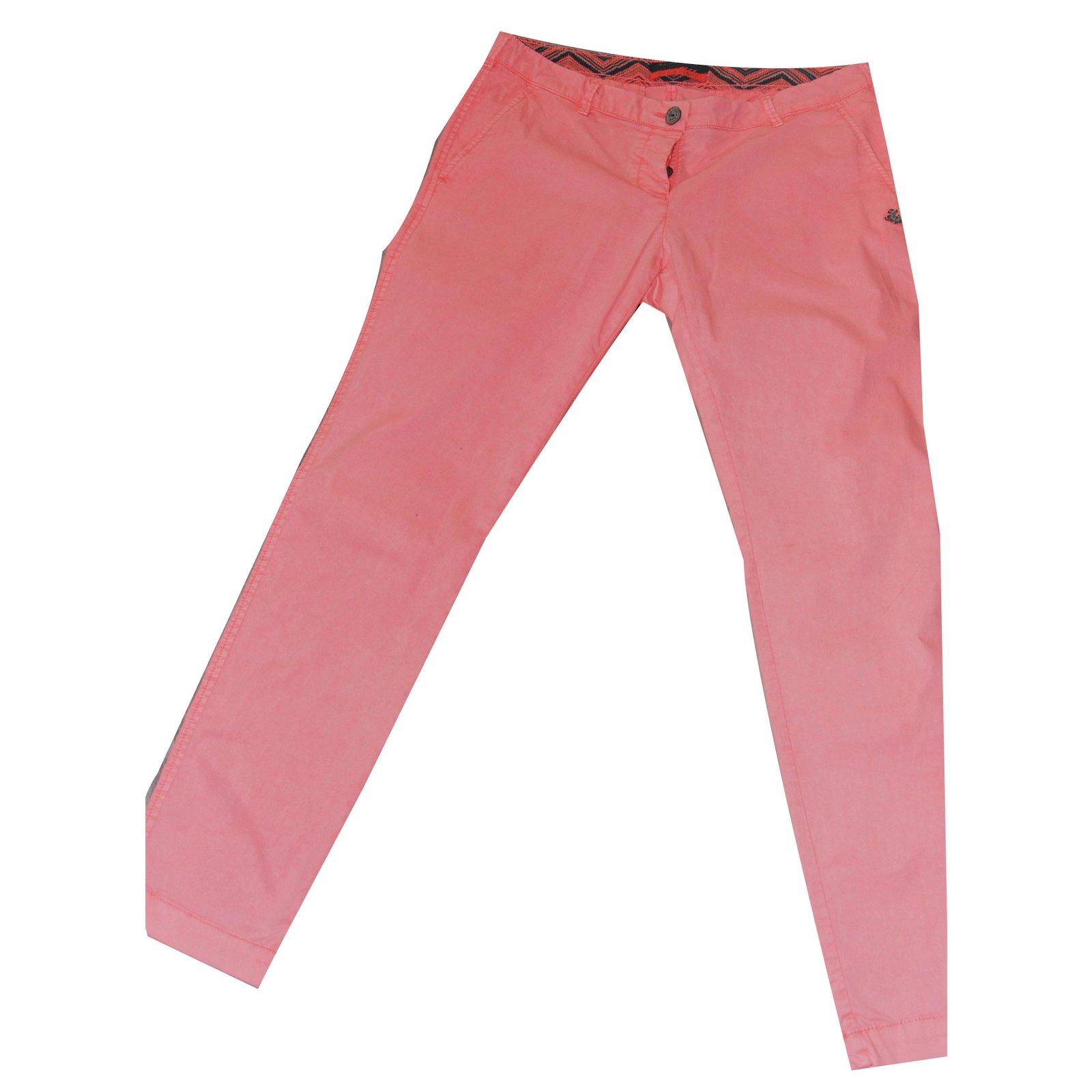 texture nette chaussures classiques rechercher le meilleur Pantalons Maison Scotch Pantalons Coton Rose,Orange,Corail ...