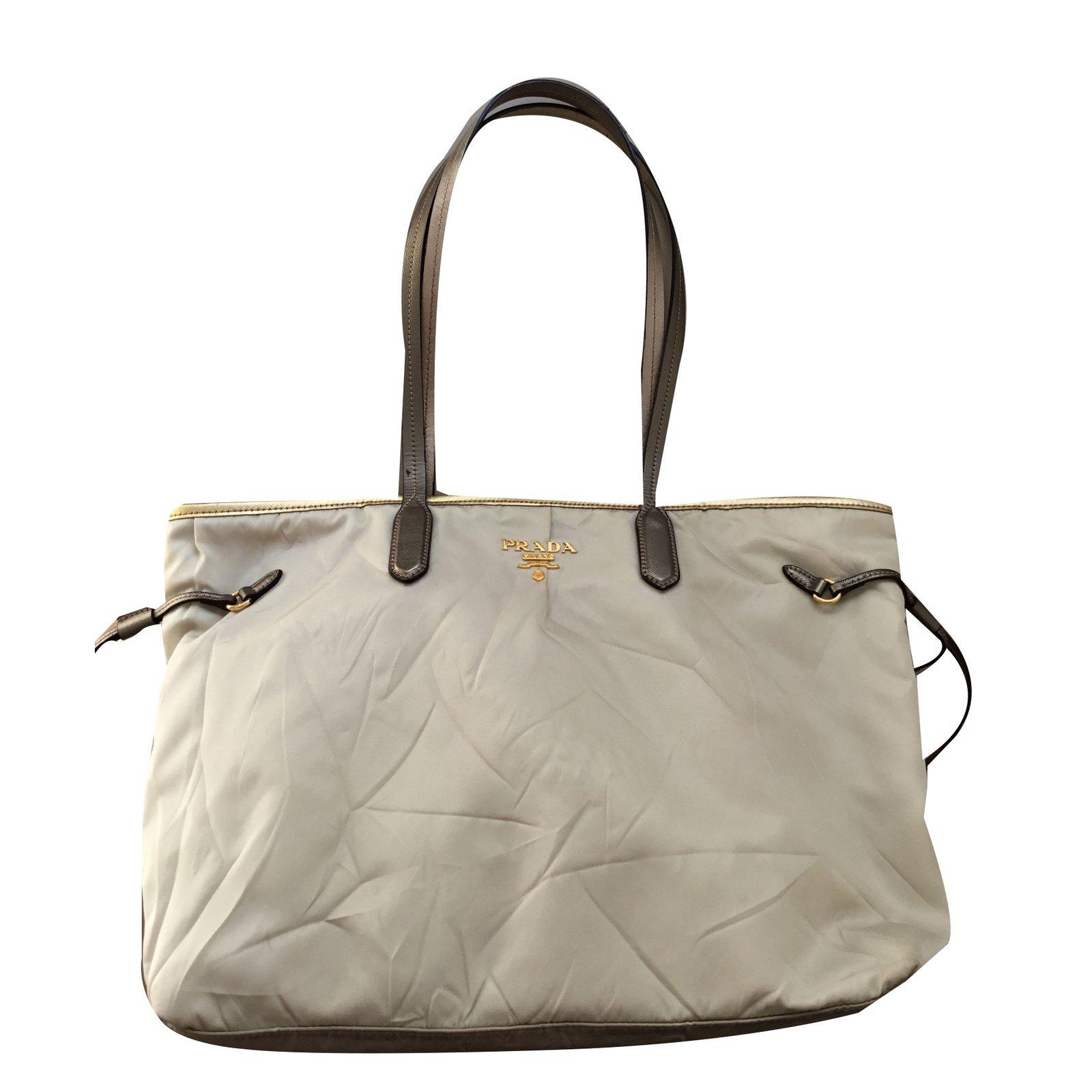 0ff0a2b125 ... shopping prada handbag handbags cloth cream ref.49876 5339c b8390