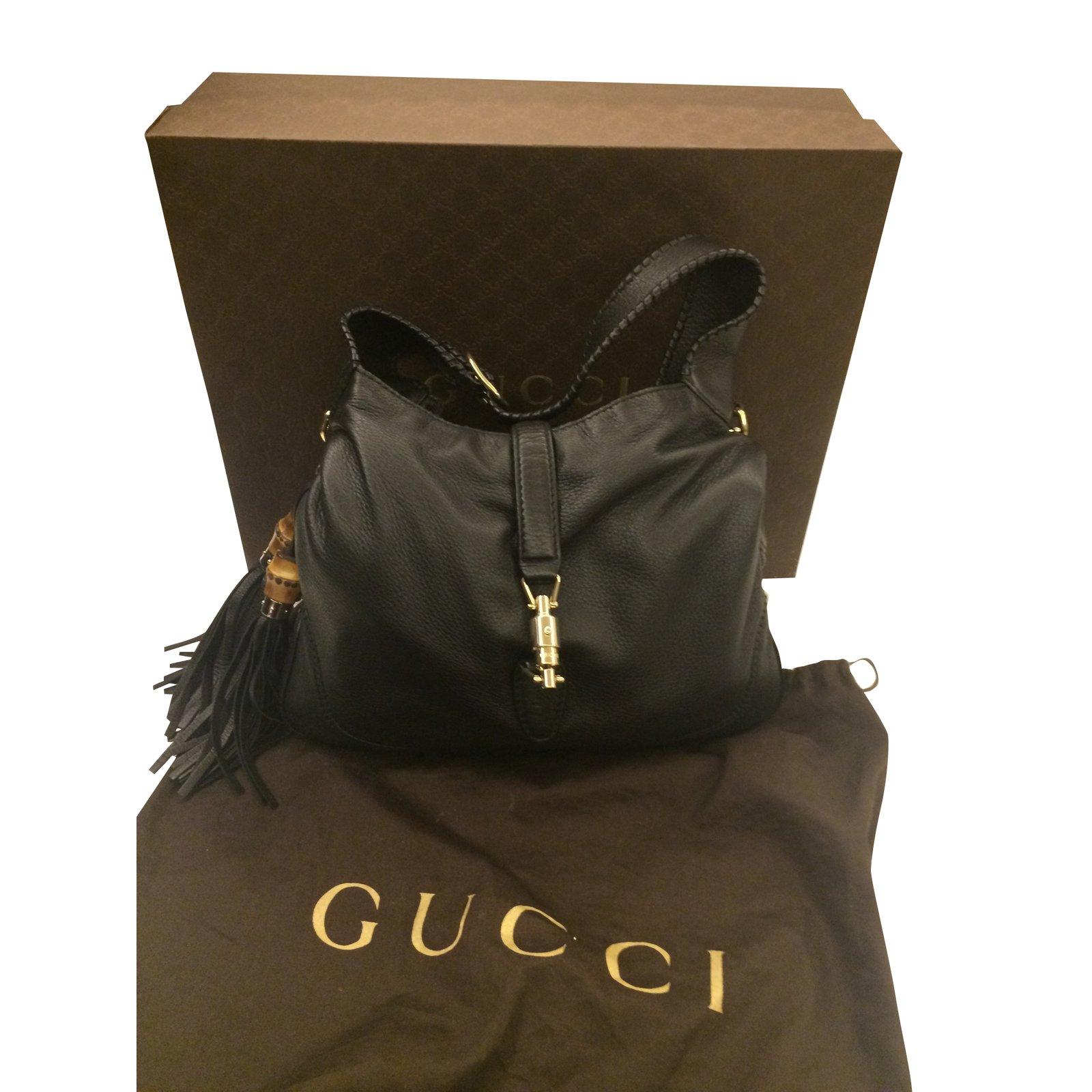 a351bc2b798f Sacs à main Gucci Sac Gucci Jackie en cuir noir Cuir Noir ref.49989 ...