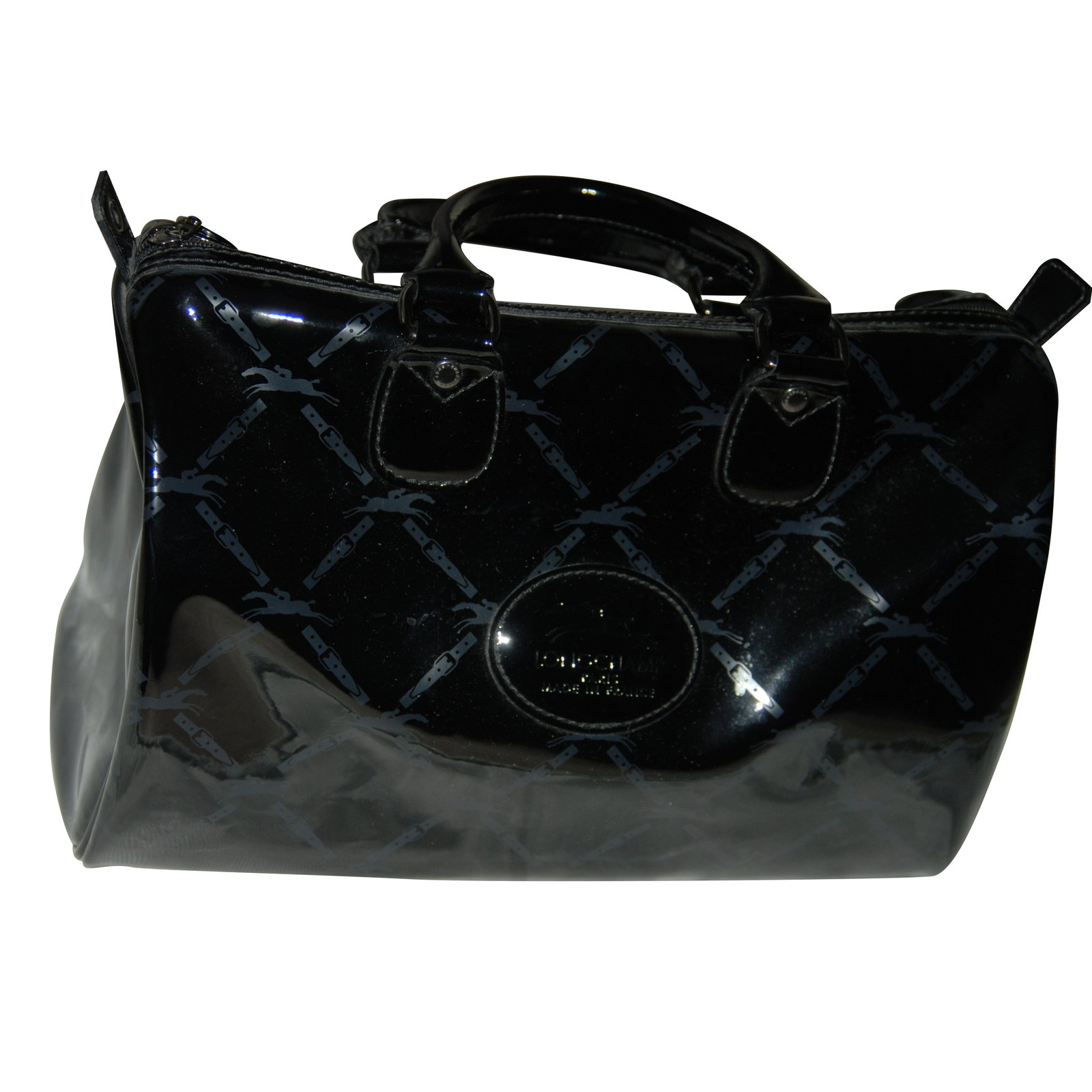 Longchamp Handbags Handbags Patent leather Black ref.50050 - Joli Closet 814b1eb69beab