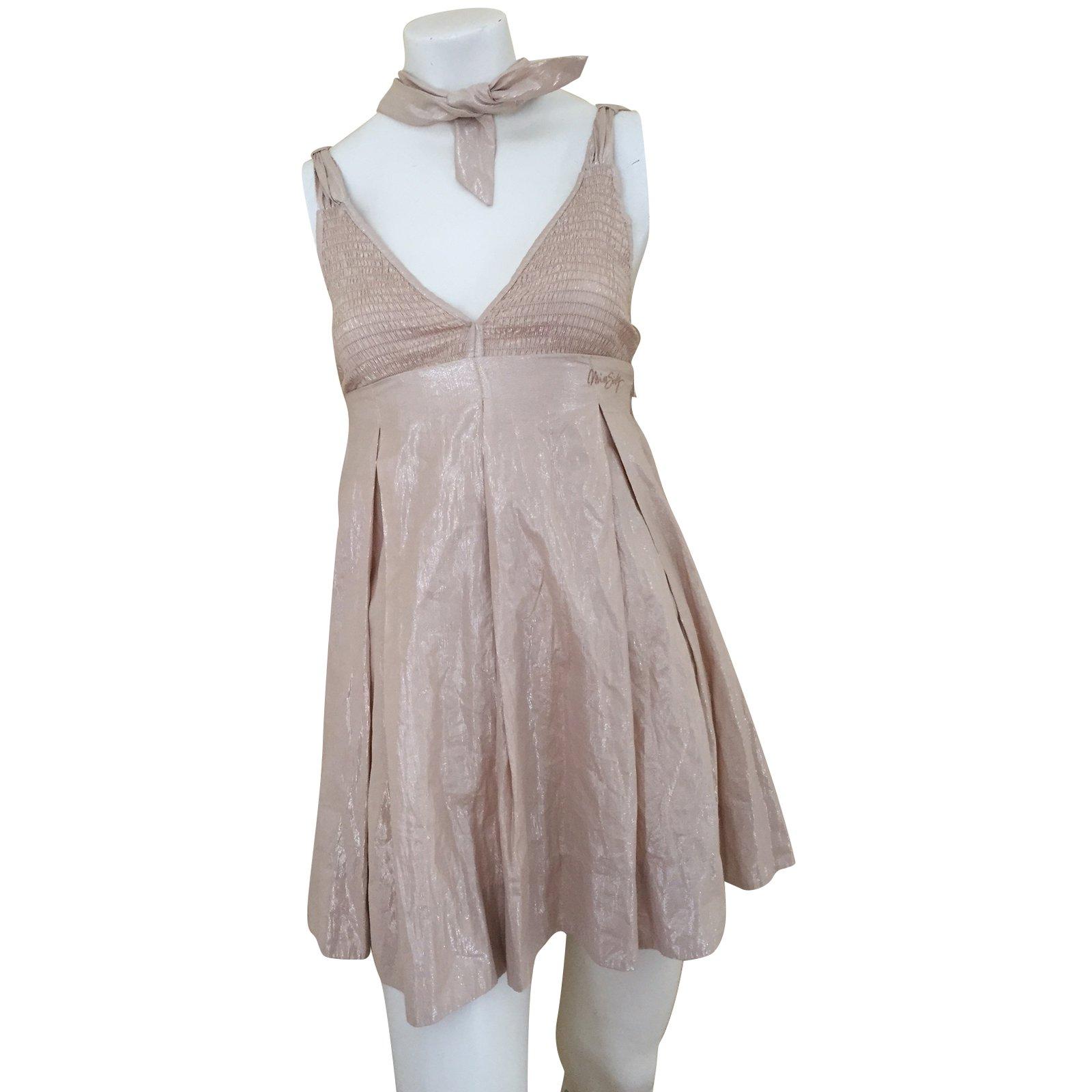 Miss Sixty Dresses Cotton Beige Ref 50086