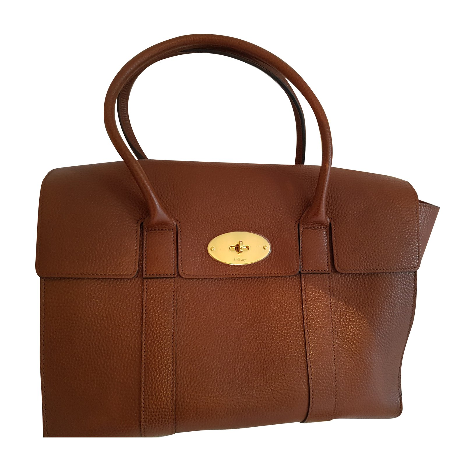 56861bb7d3 Mulberry Bayswater Handbags Leather Brown ref.50187 - Joli Closet