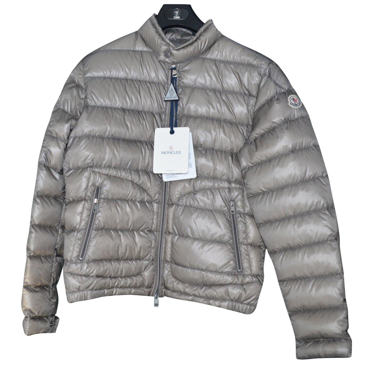 Moncler moncler acorus tg.1 Men Coats Outerwear Other Grey ref.50190