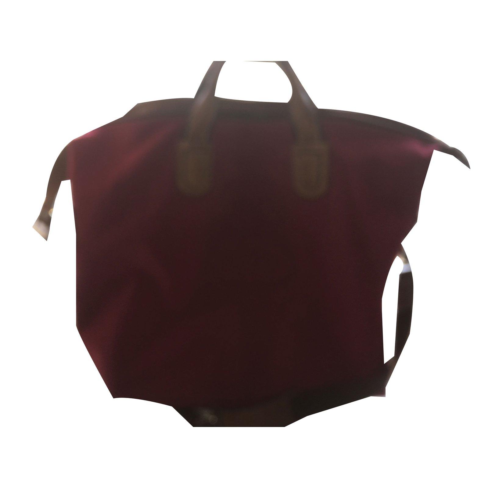 sacs de voyage lancel sac week end toile bordeaux joli closet. Black Bedroom Furniture Sets. Home Design Ideas