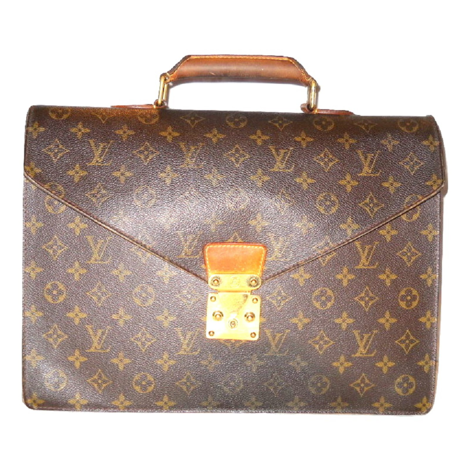 260045d53 Louis Vuitton Bags Briefcases Bags Briefcases Leather,Cloth Brown ref.50487