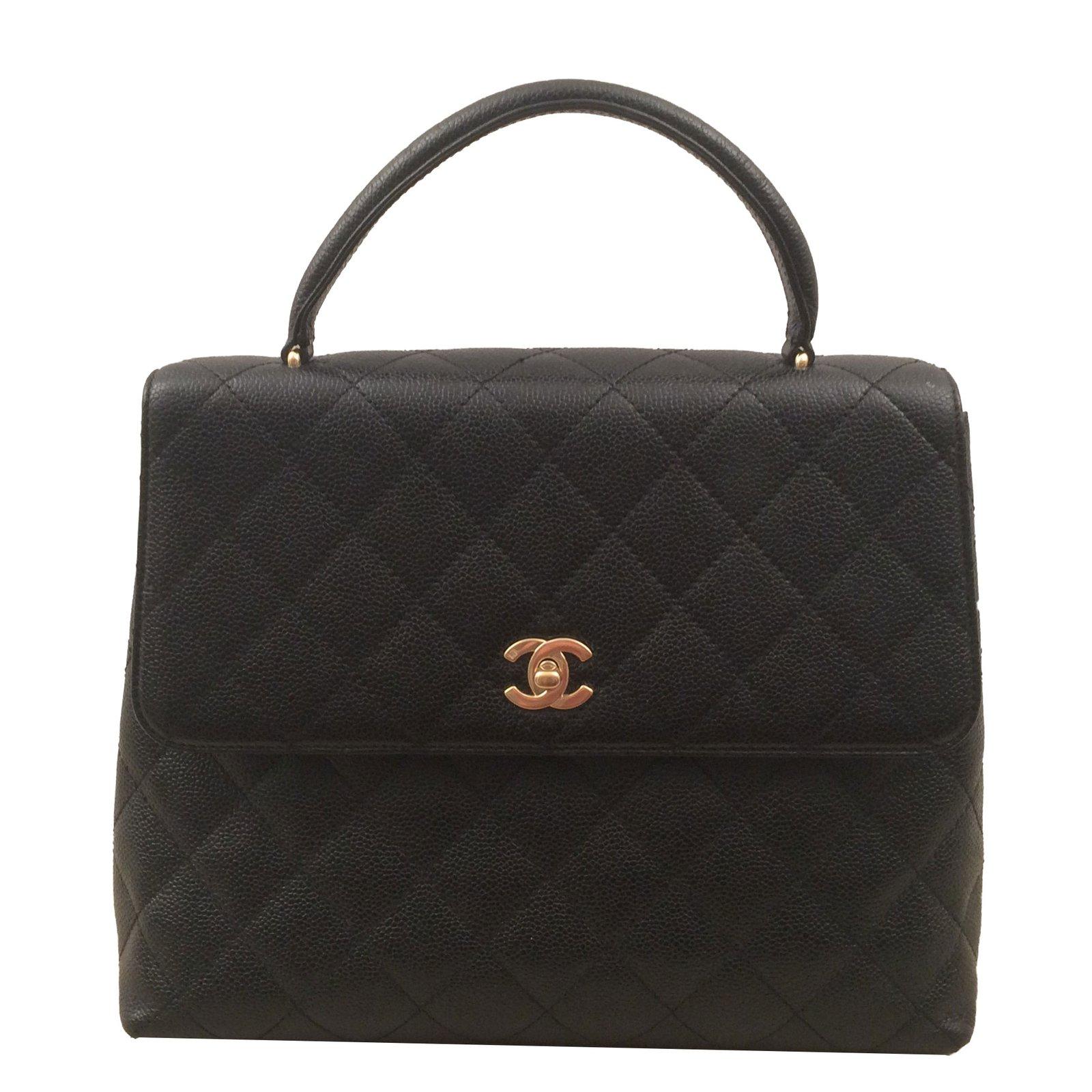 845ed79c58b4 Sacs à main Chanel Sac Chanel Mademoiselle à rabat avec Poignée cuir  d agneau Noir