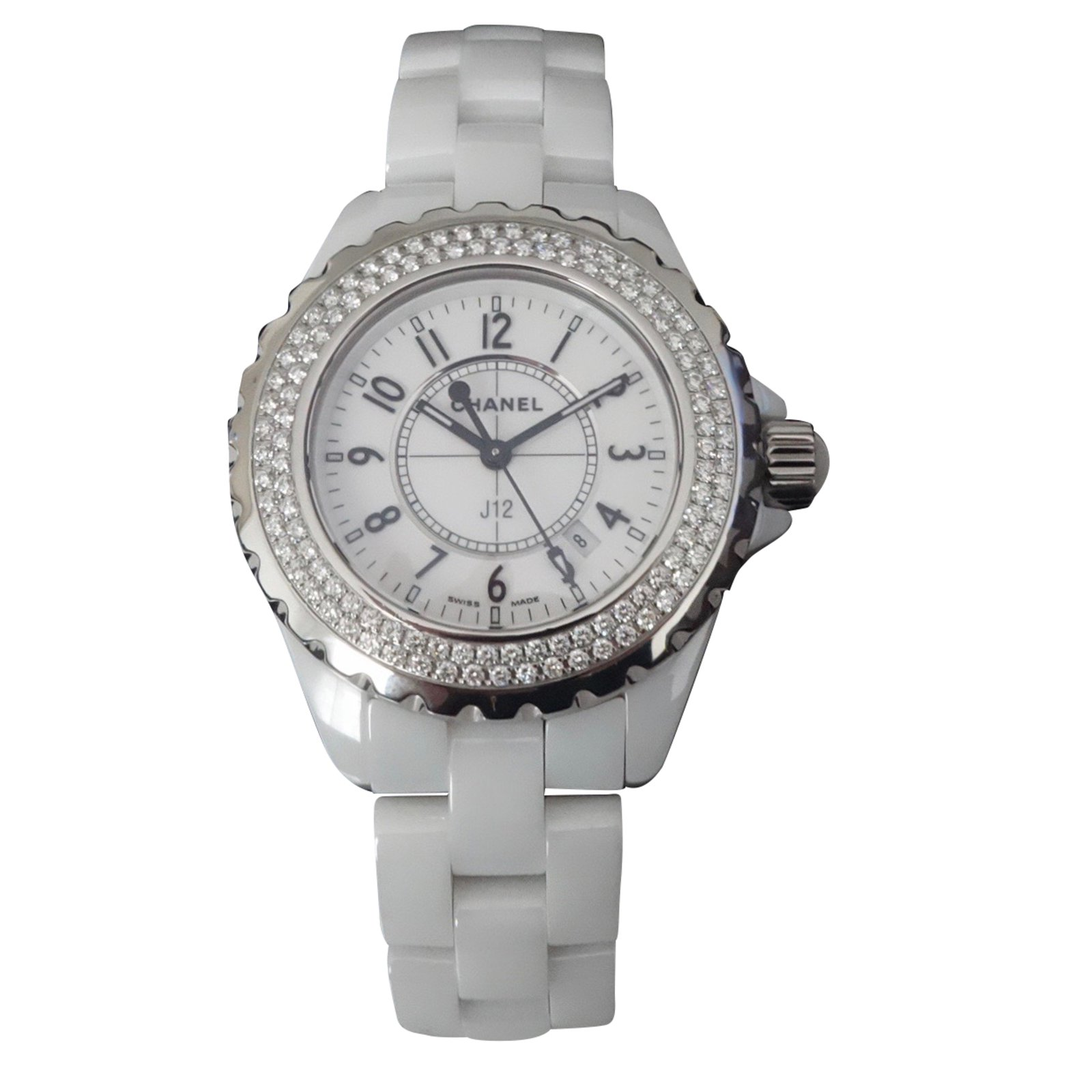 xupes white chronograph hand women s ceramic chanel second watches details product womens