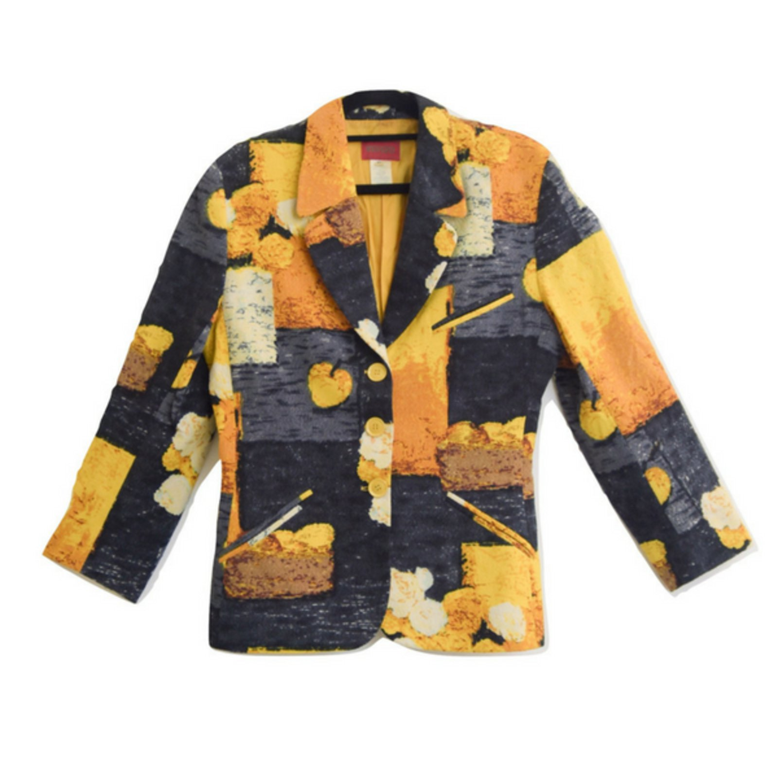 vestes kenzo veste laine noir multicolore jaune joli closet. Black Bedroom Furniture Sets. Home Design Ideas