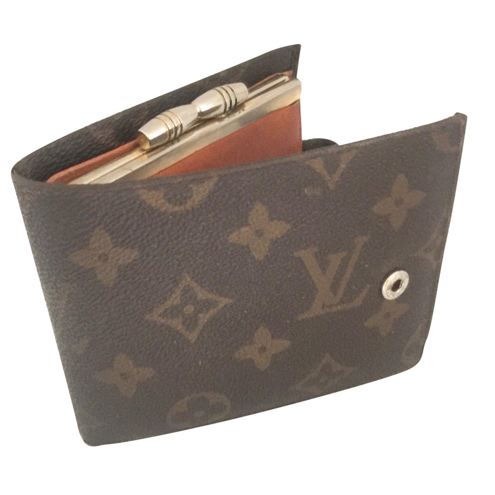 Petite maroquinerie louis vuitton porte monnaie synth tique marron fonc joli closet - Porte monnaie louis vuitton homme ...