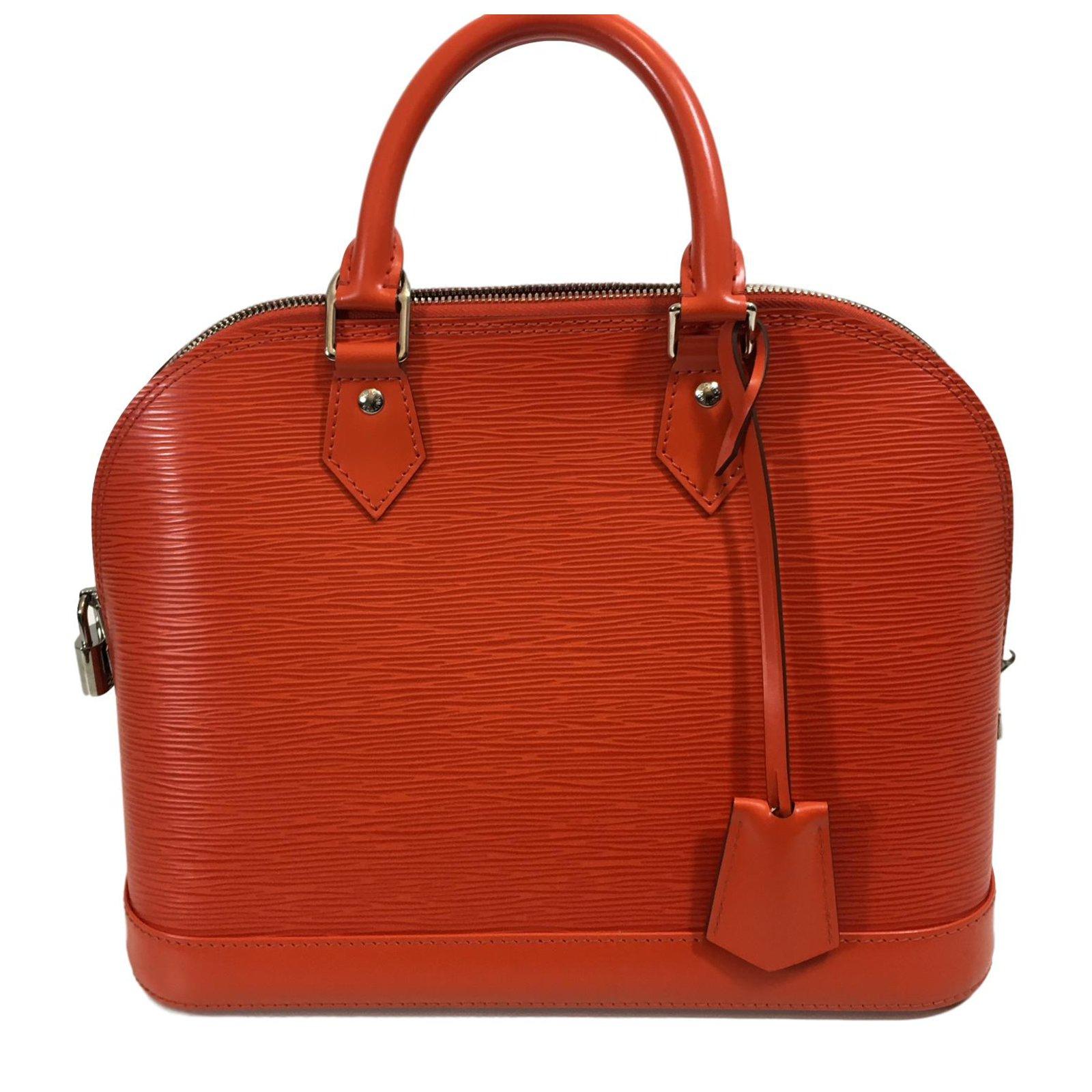 Louis Vuitton Alma Pm Handbags Leather Orange Ref 54197