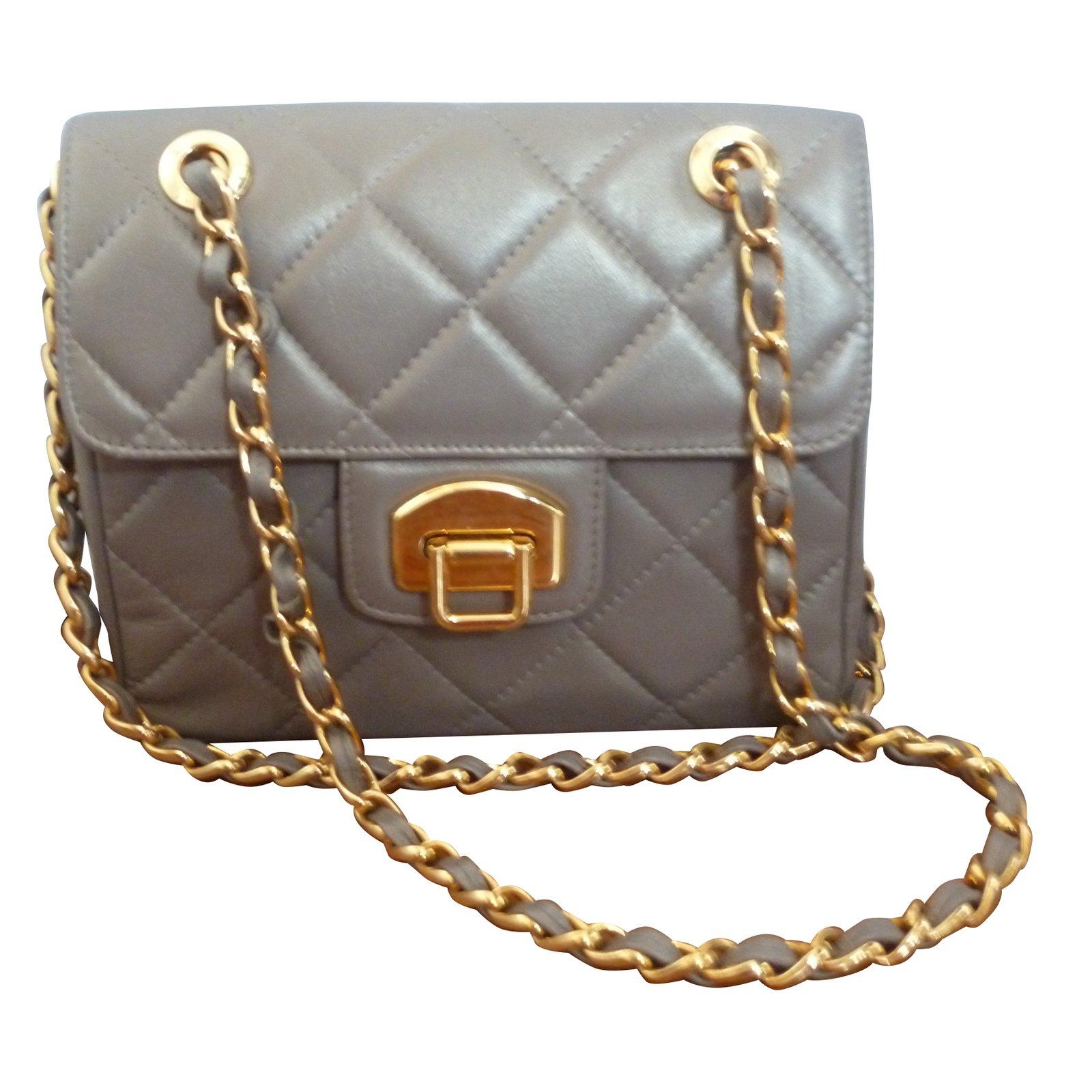 Charles Jourdan Handbags Leather Grey Ref 51664
