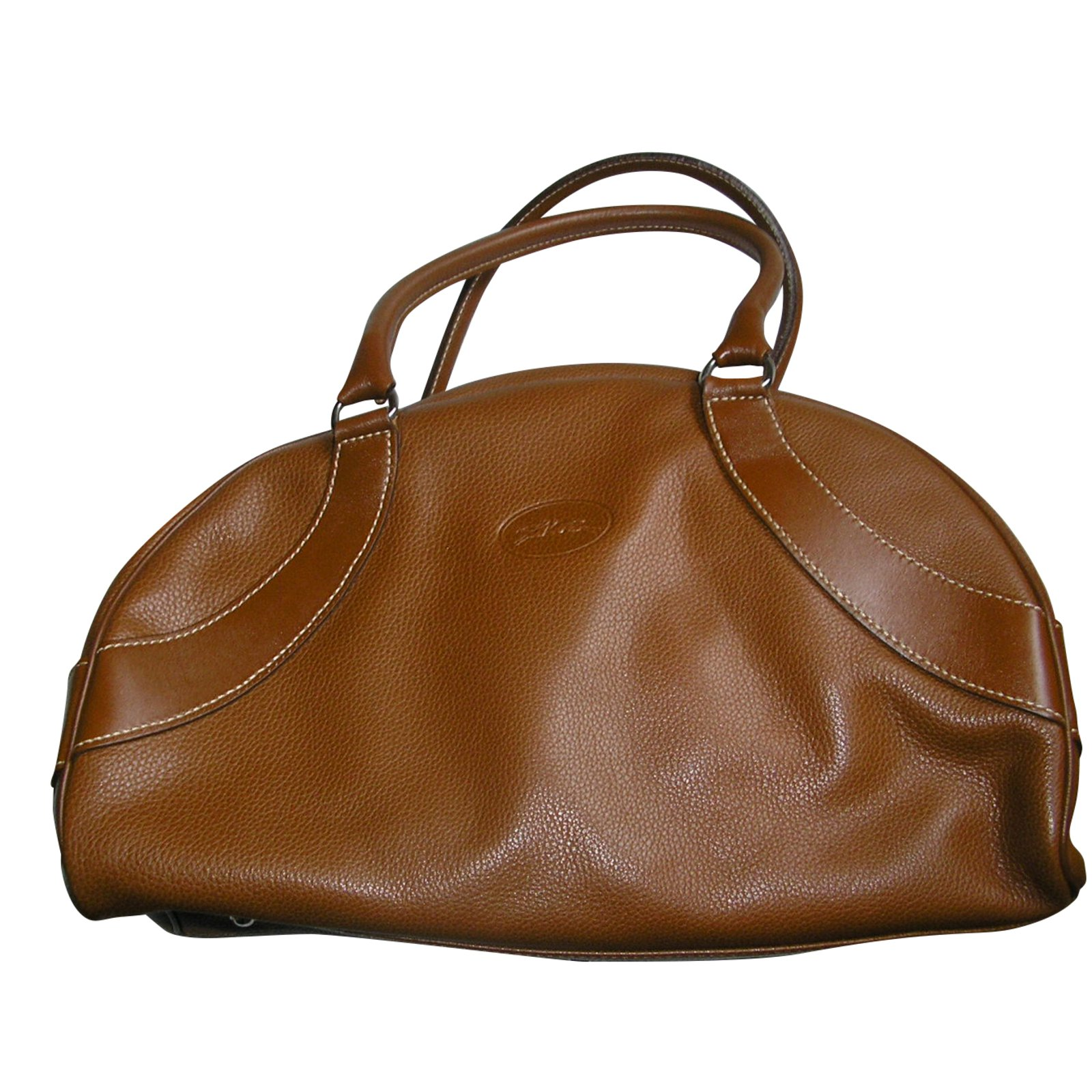 Caramello Bowling Longchamp Leather Borse Ref Caramel Borsa gv4wwCq
