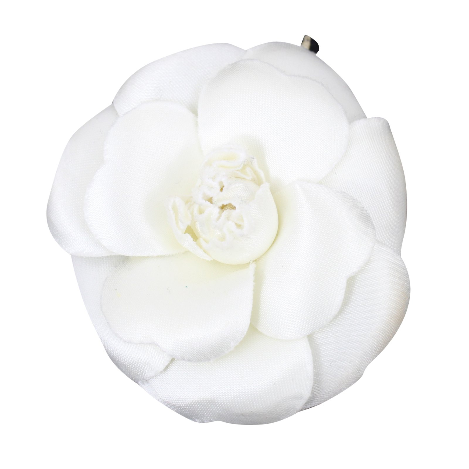 Chanel Camelia Pins & brooches Silk White ref.51951 - Joli ...