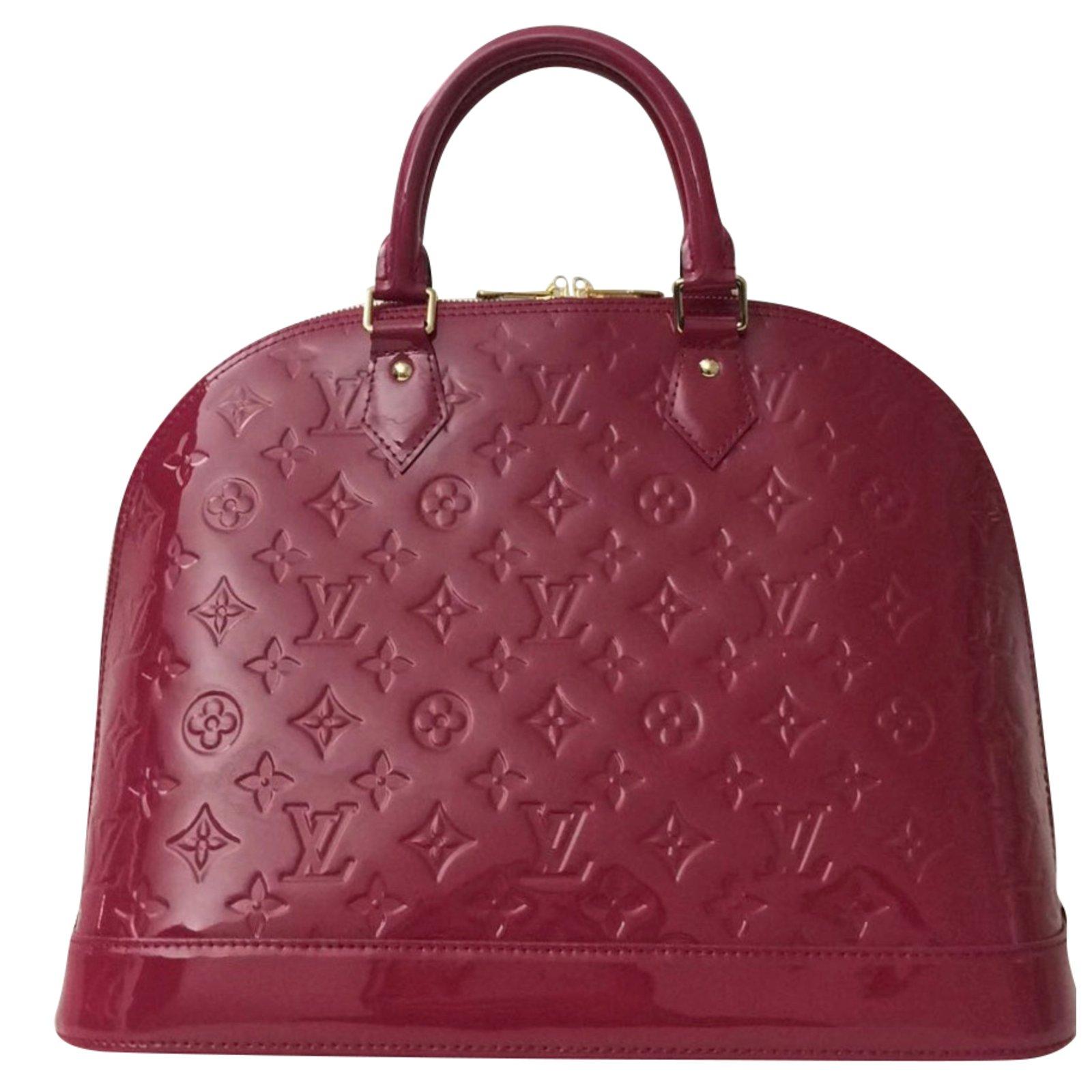 Sacs à main Louis Vuitton Sublime Sac Louis Vuitton Alma MM en cuir vernis  rose indien 165f0b4a8d93